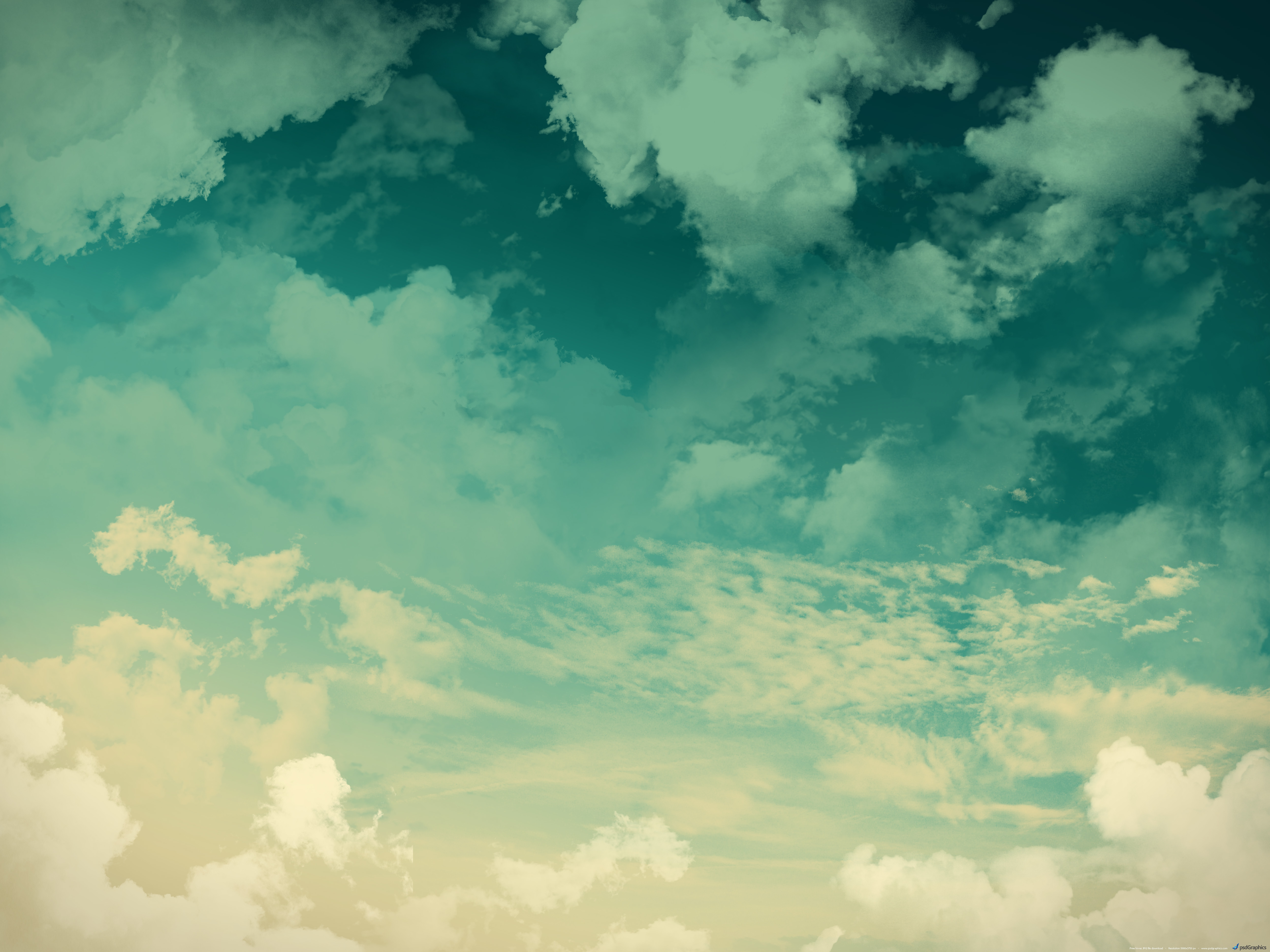 Grunge sky background green clouds
