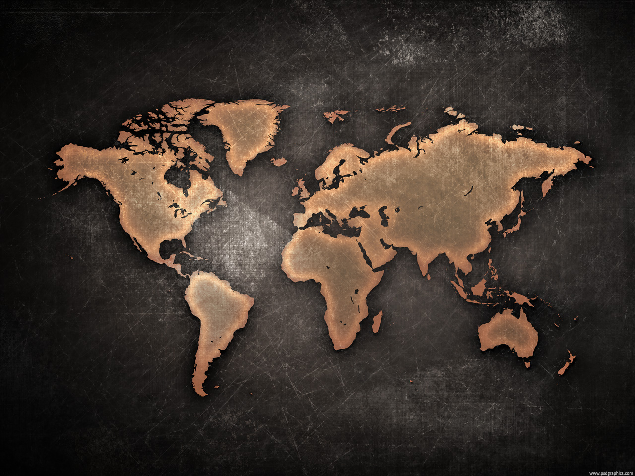 Grunge world map psdgraphics color theme black orange author psd graphics might be useful similar graphic blank world map gumiabroncs Image collections