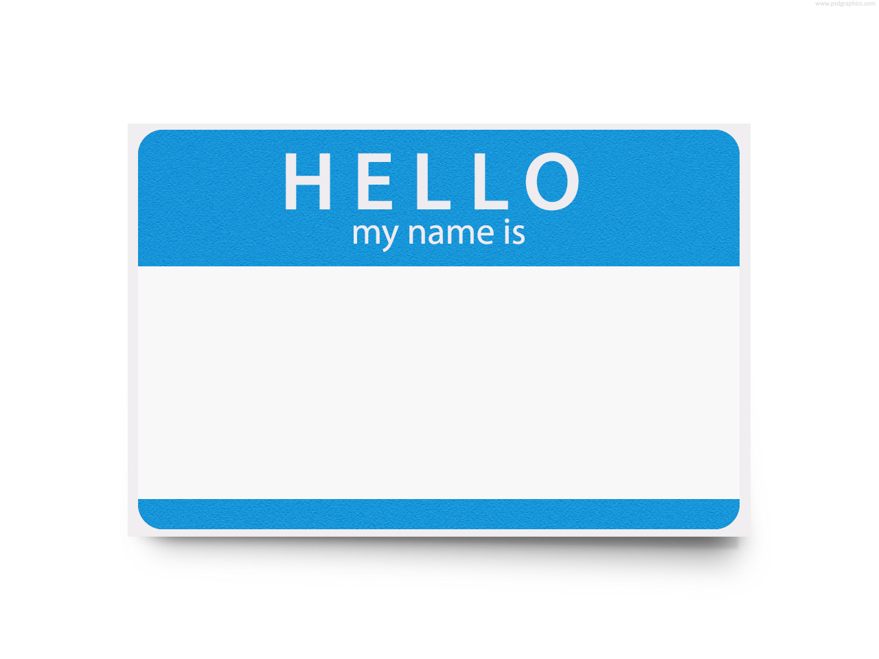 Full Size Jpg Preview Hello My Name Is Template