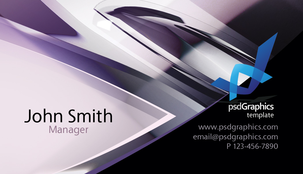 Abstract Hitech Design Business Card Template PSDGraphics - Graphic design business card templates