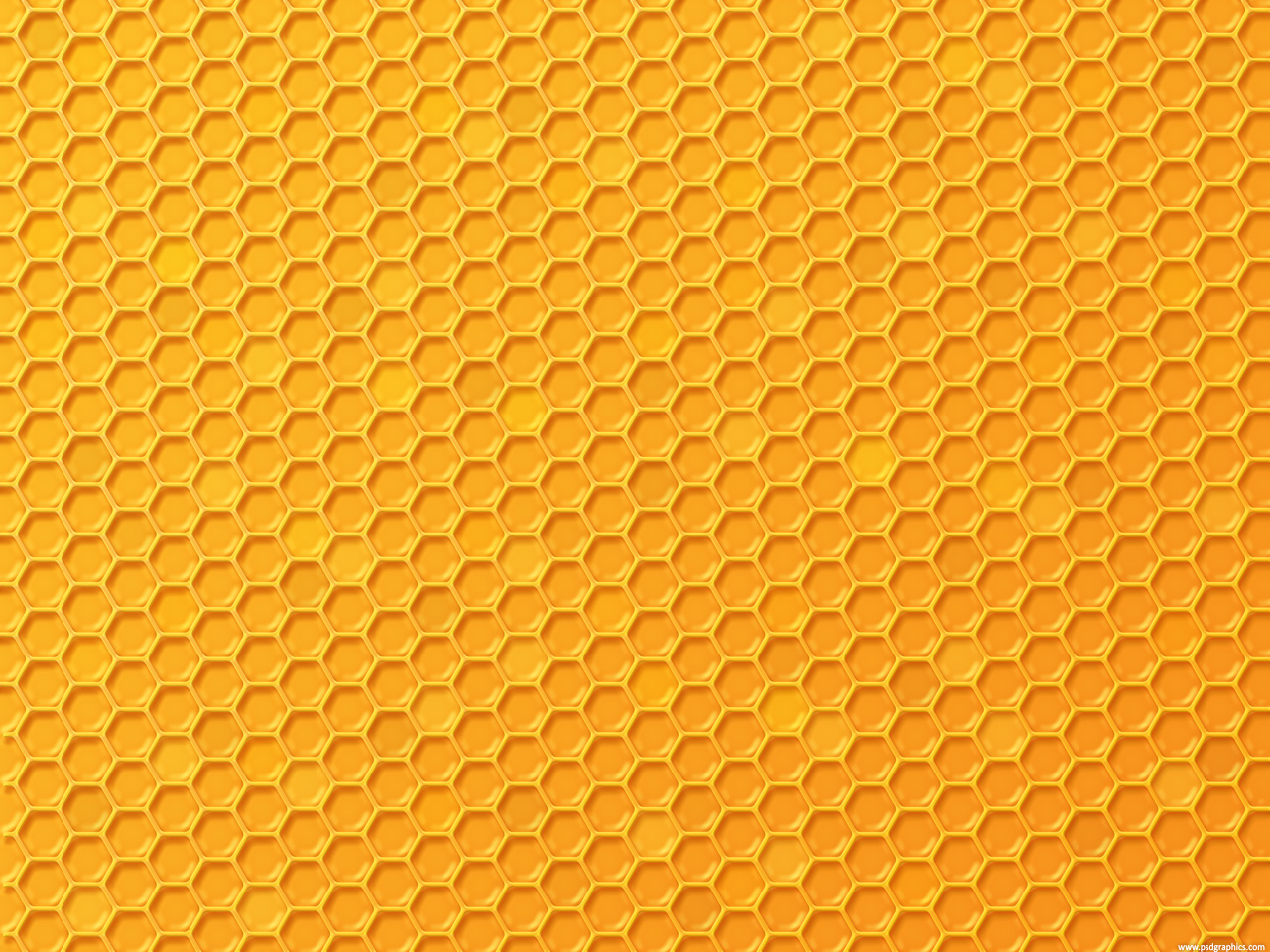 Yellow honey background with hexagonal pattern vector free download - Honeycomb Texture