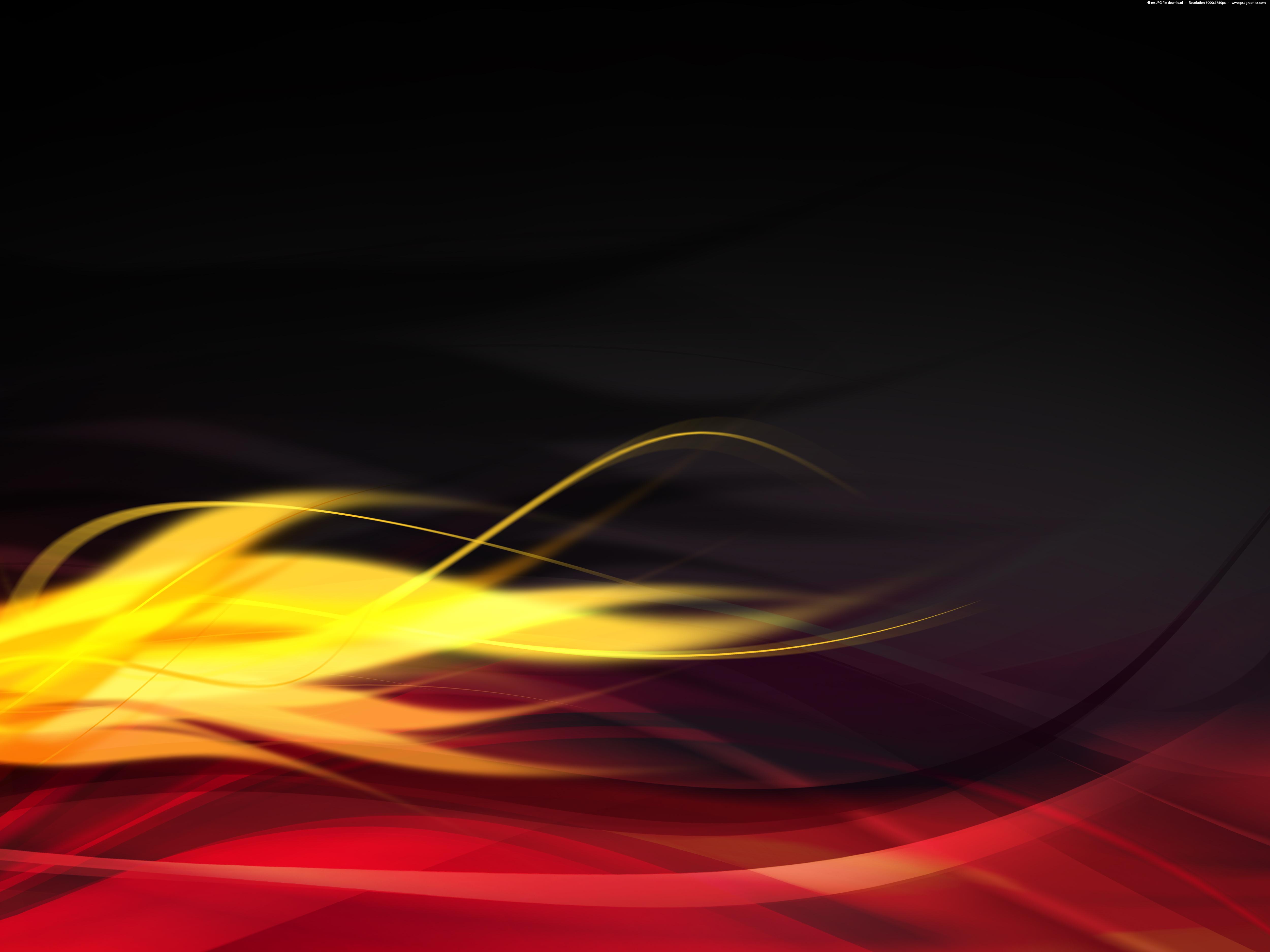 Hot Flames Black Background Psdgraphics