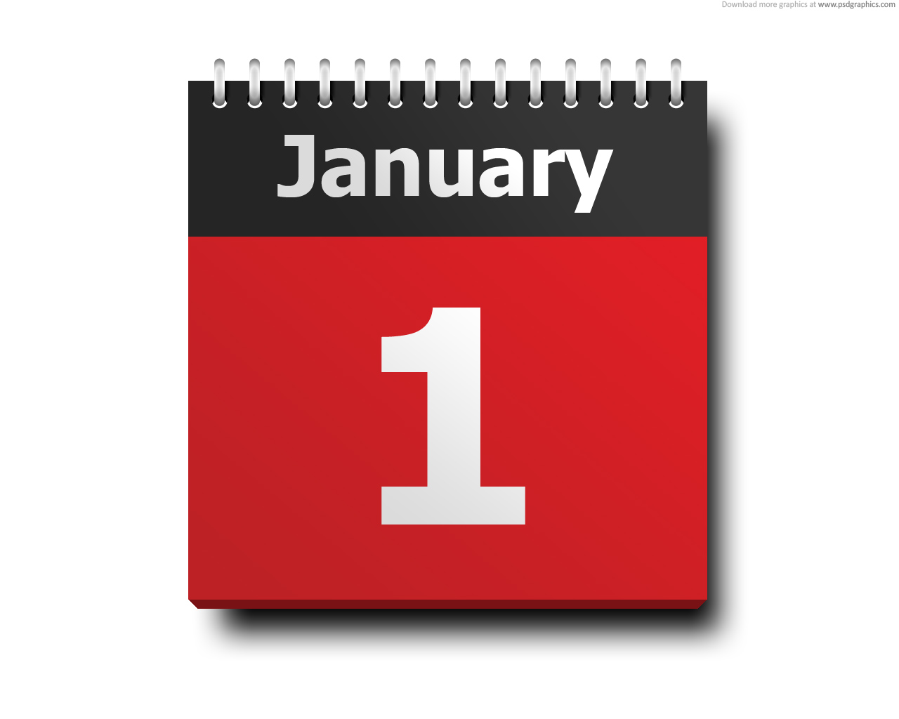 January 1 Calendar Icon Psdgraphics