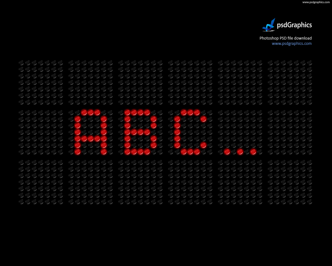 LED screen font (PSD) | PSDGraphics