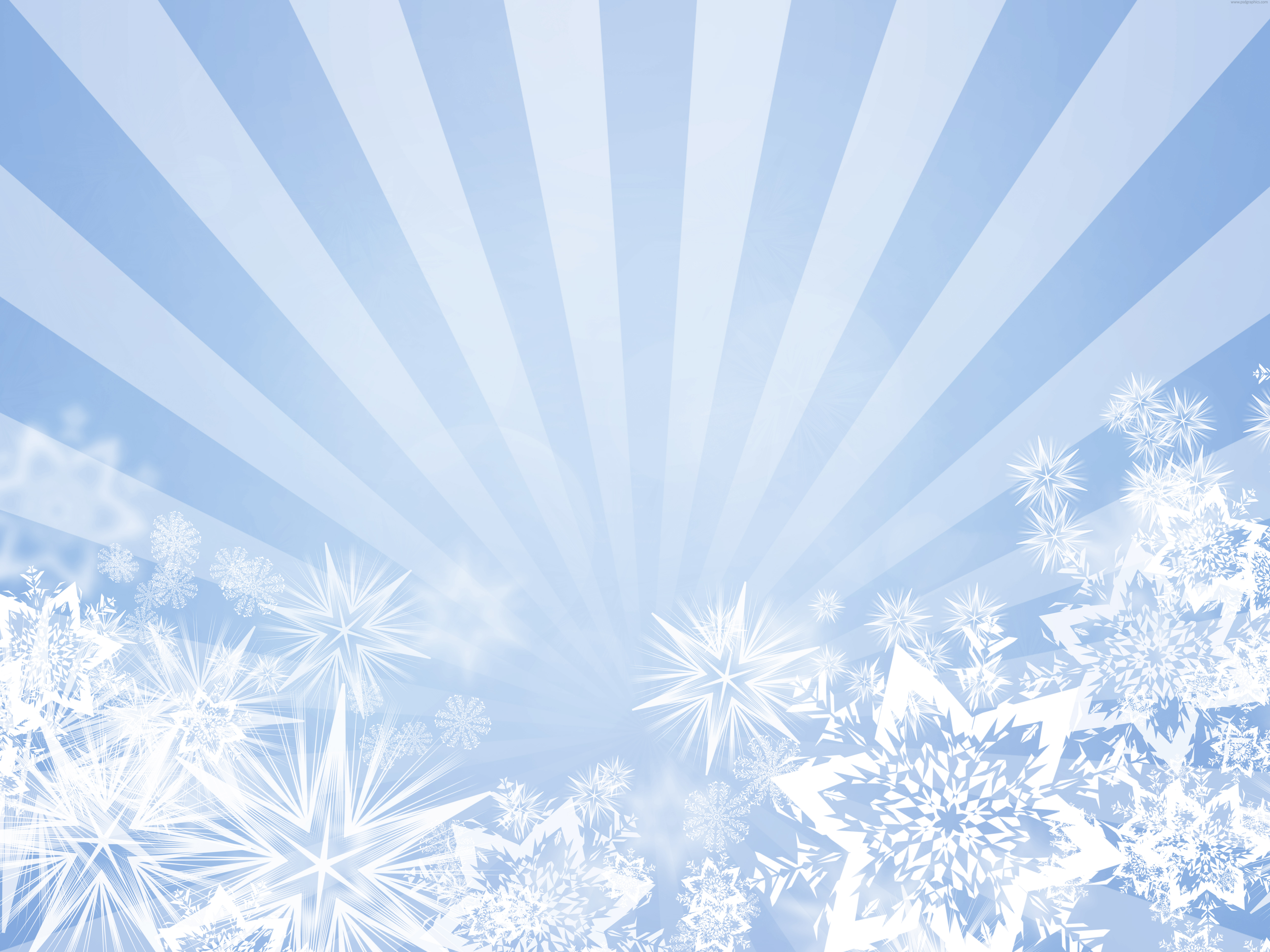 Light Blue Snowflakes Design Psdgraphics