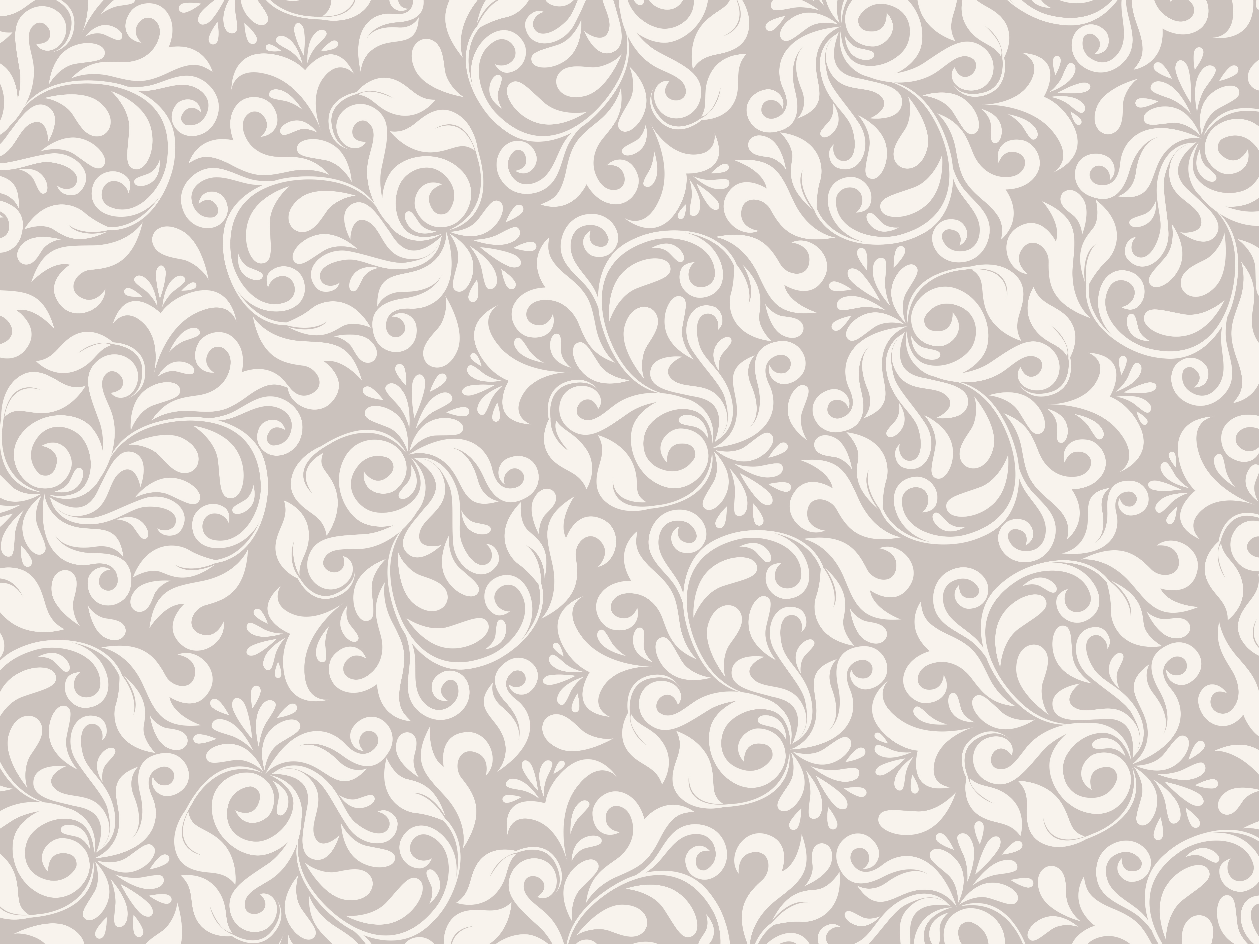 Light Brown Floral Pattern Psdgraphics
