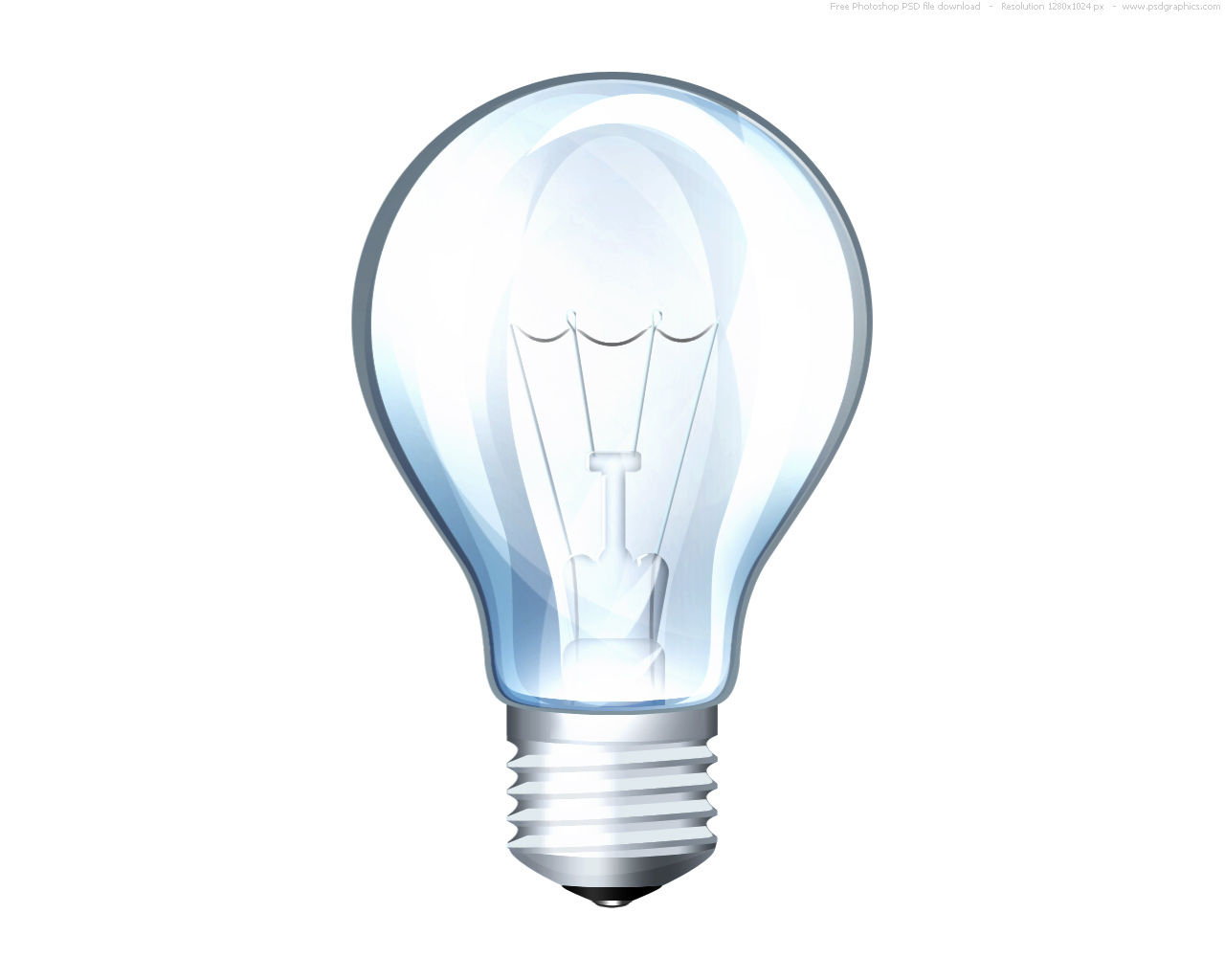 Psd light bulb icon psdgraphics A light bulb