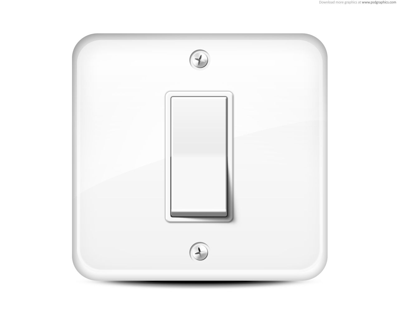Light switch icon | PSDGraphics