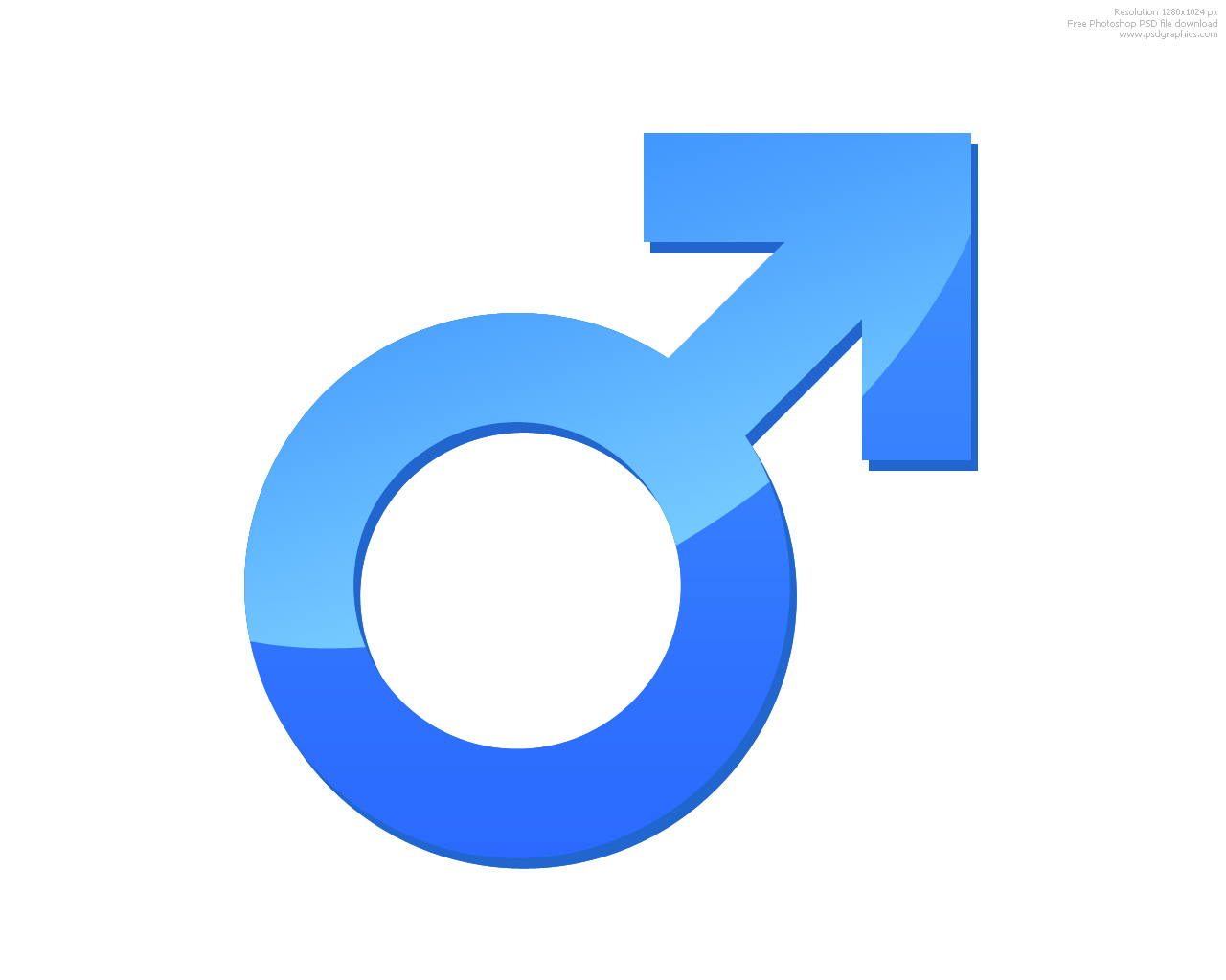 Male and female signs  PSDGraphics