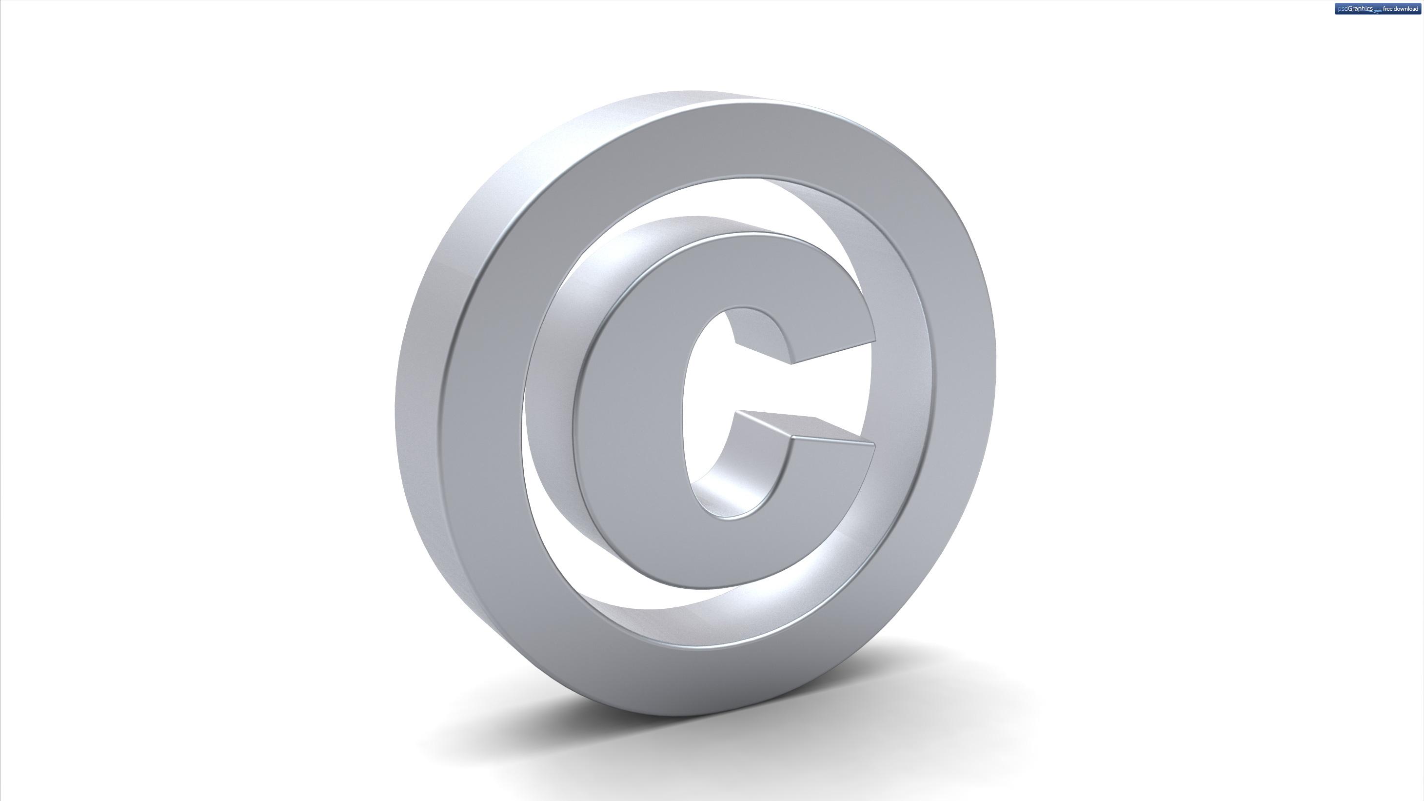 3d Copyright Symbol Psdgraphics