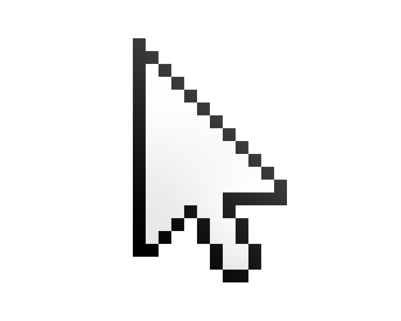 arrow on computer