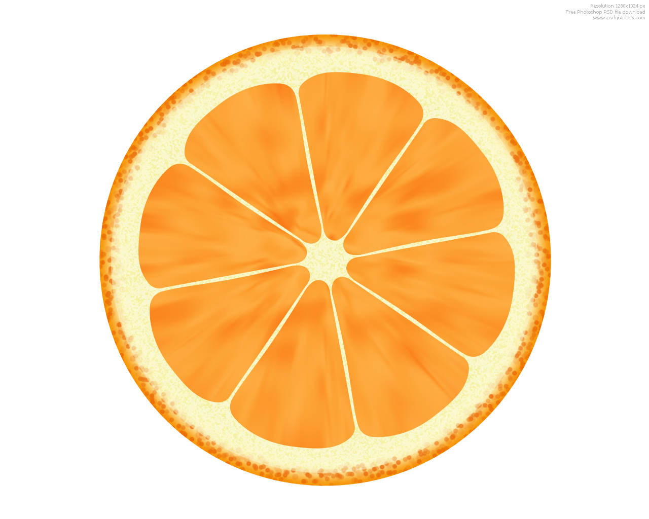 Fruit illustrations, lemon and orange icons | PSDGraphics