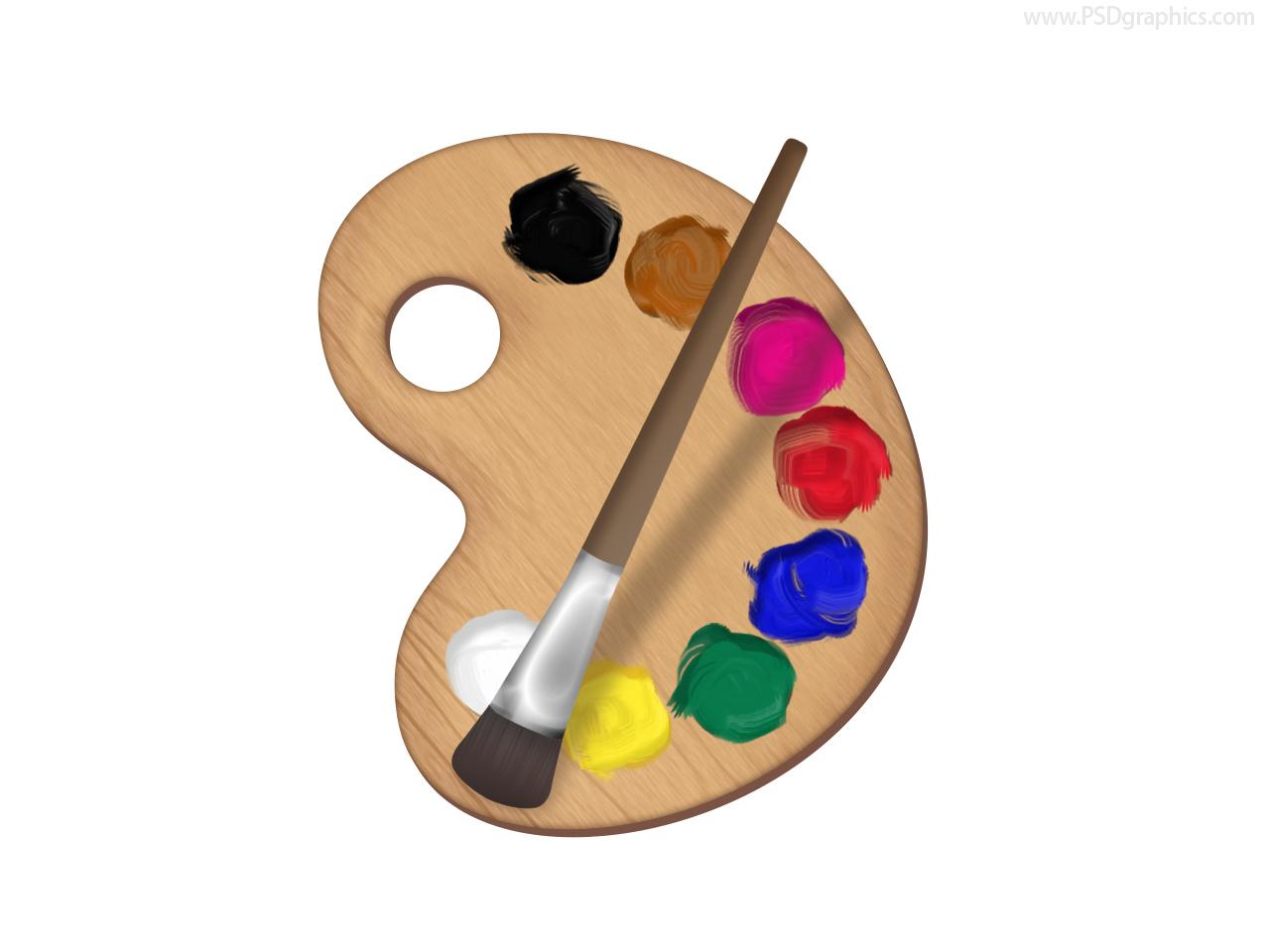 Painter's Palette Icon (PSD)