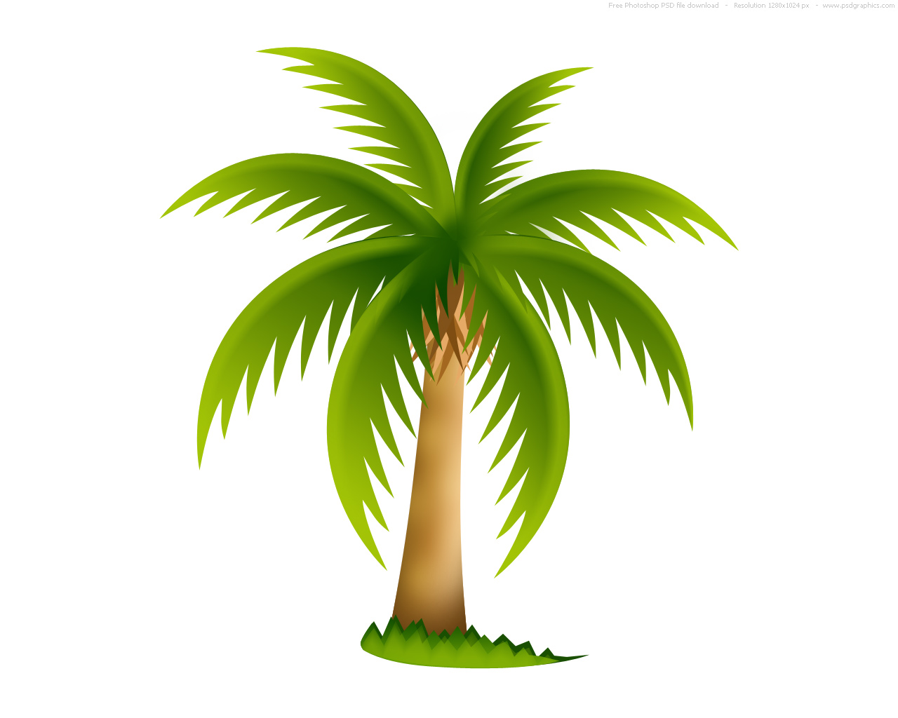 Palm tree, PSD web icon  PSDGraphics