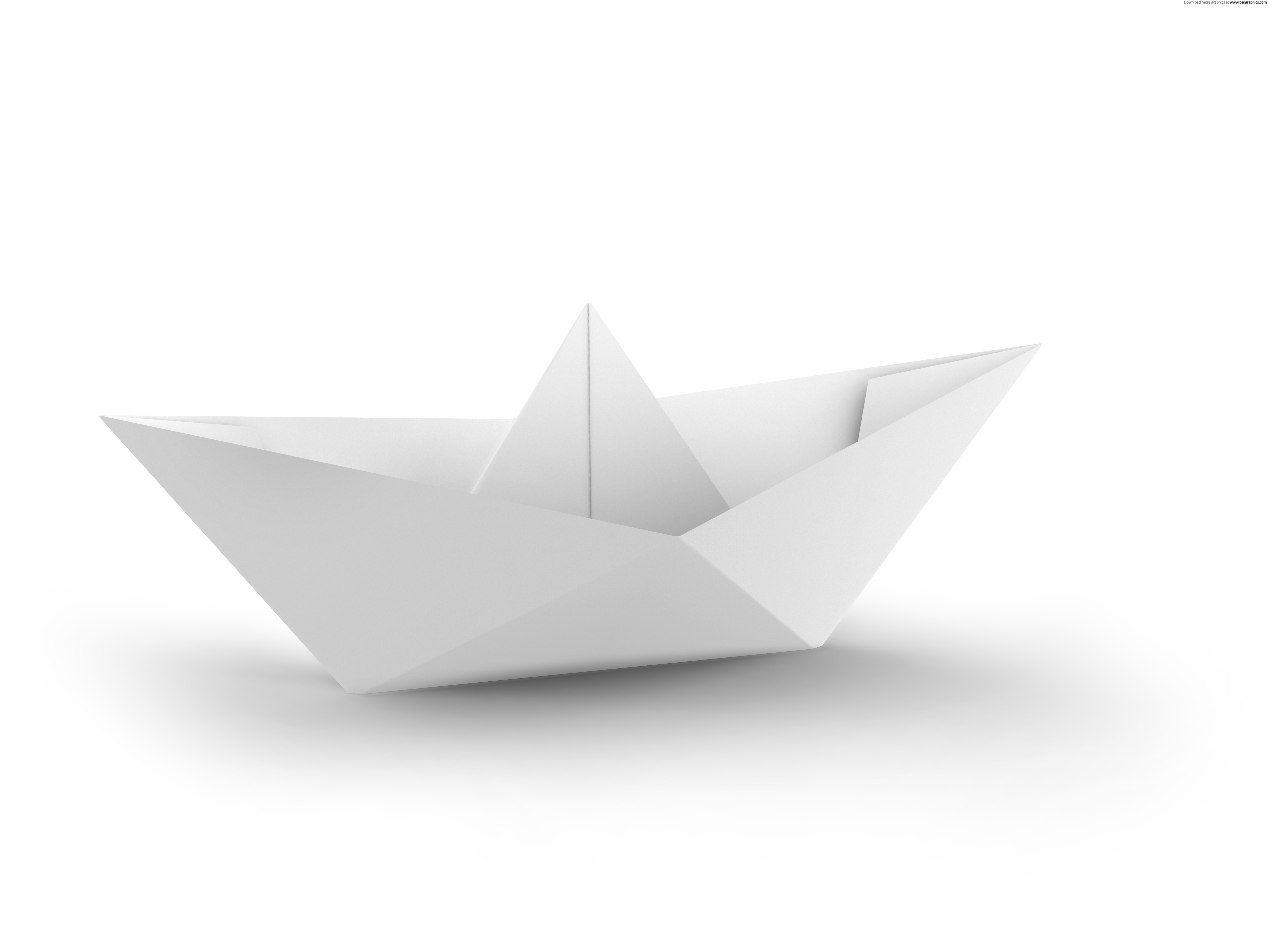 white and blue paper boats
