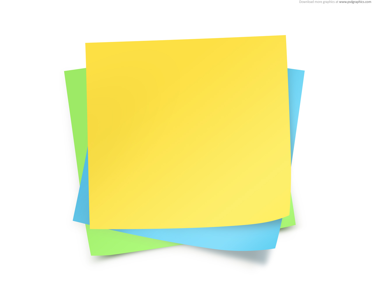 Medium Size Preview (1280x1024px): Paper Notes Template  Note Template