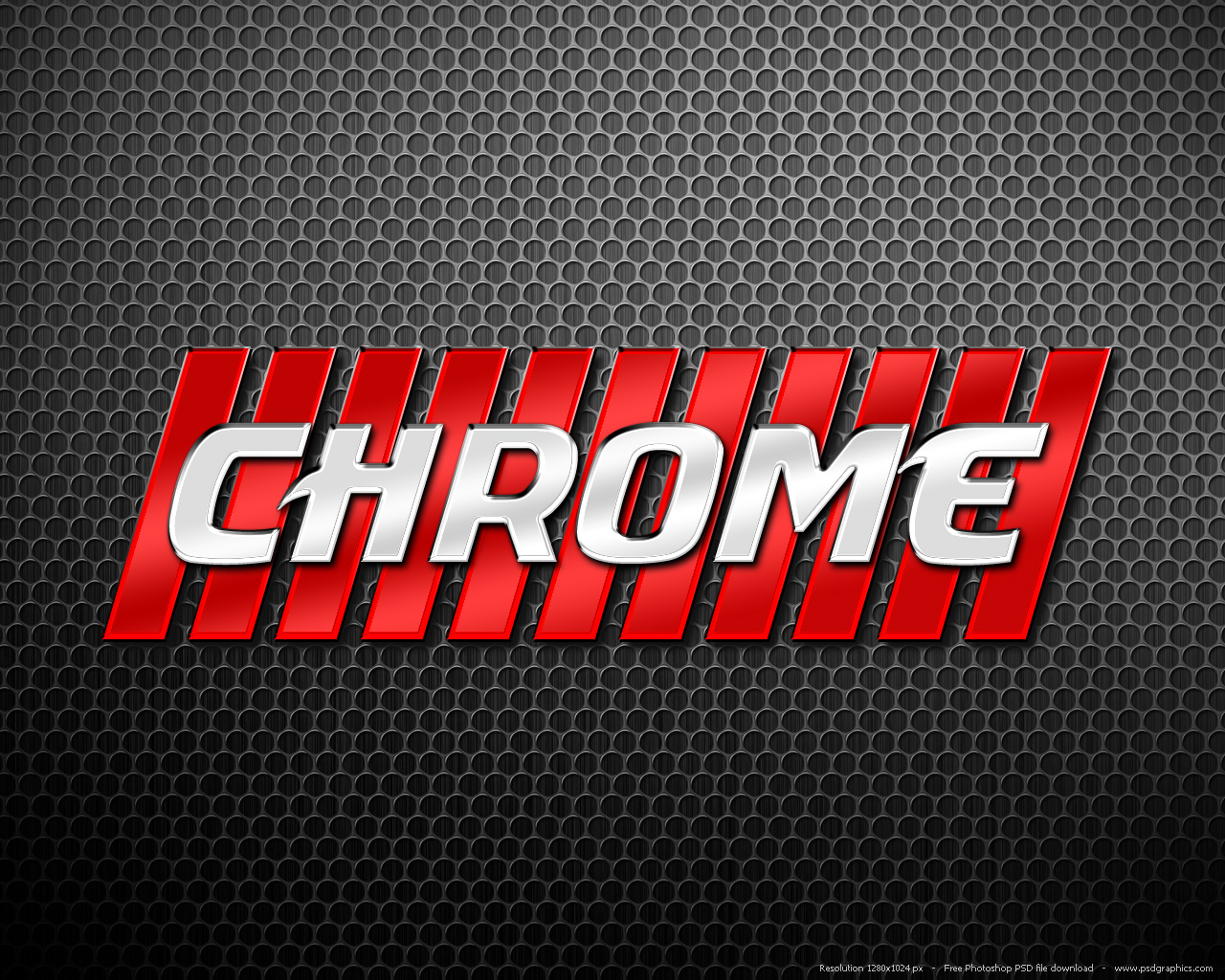 Photoshop Chrome Letters Style