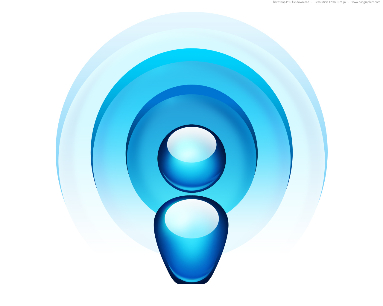 Full size JPG preview: Radio wave icon