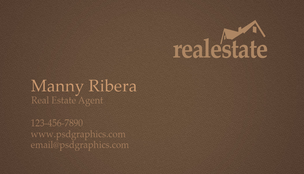 Real estate business card psdgraphics real estate business card back wajeb Images