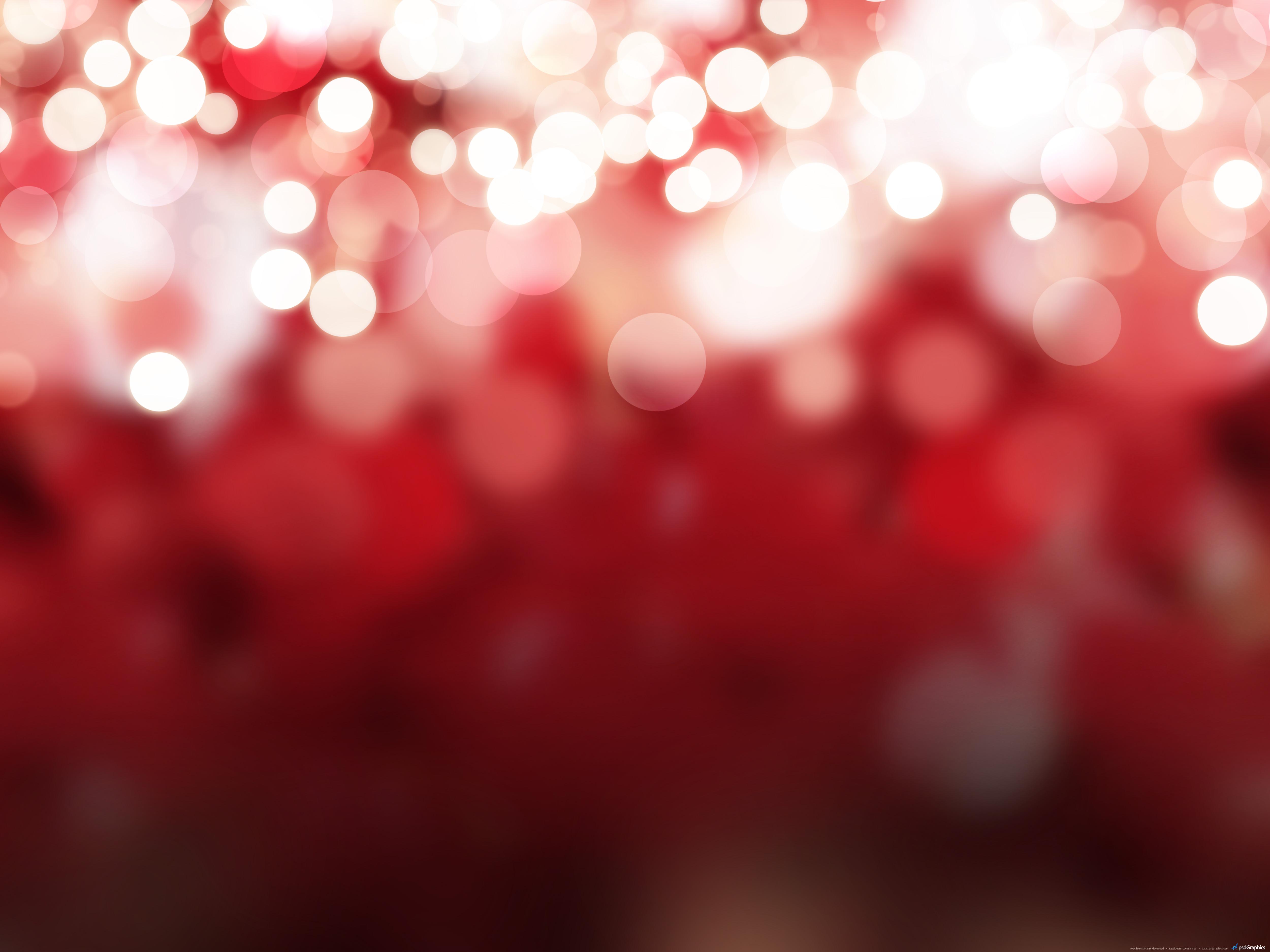 Christmas Red.Blurry Christmas Lights Background Psdgraphics