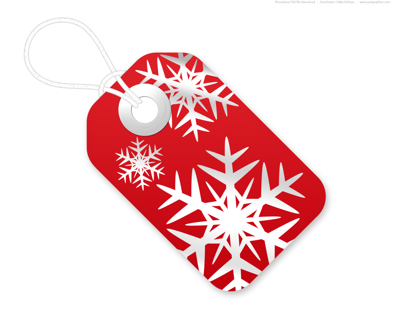 red and white christmas tags psd template psdgraphics red christmas tag