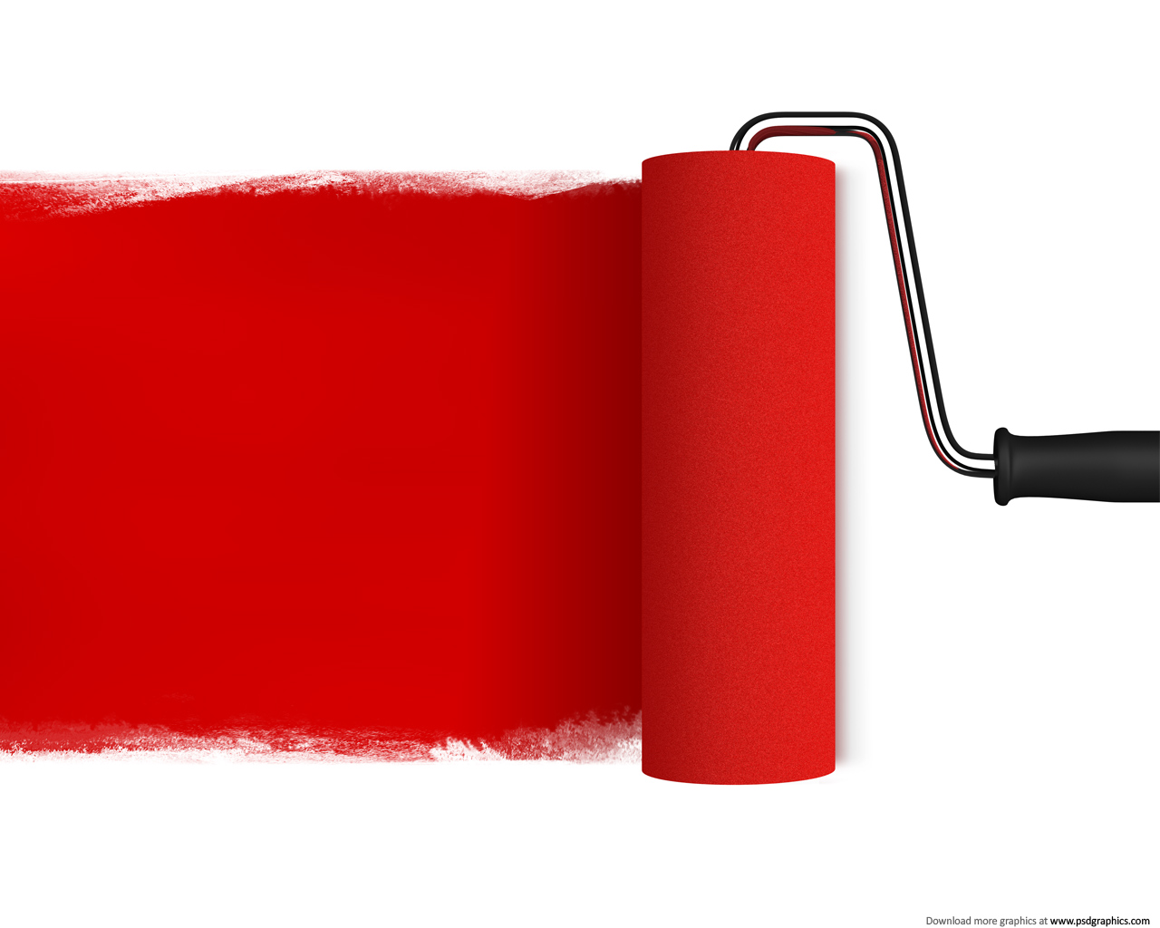Medium size preview (1280x1024px): Red paint roller