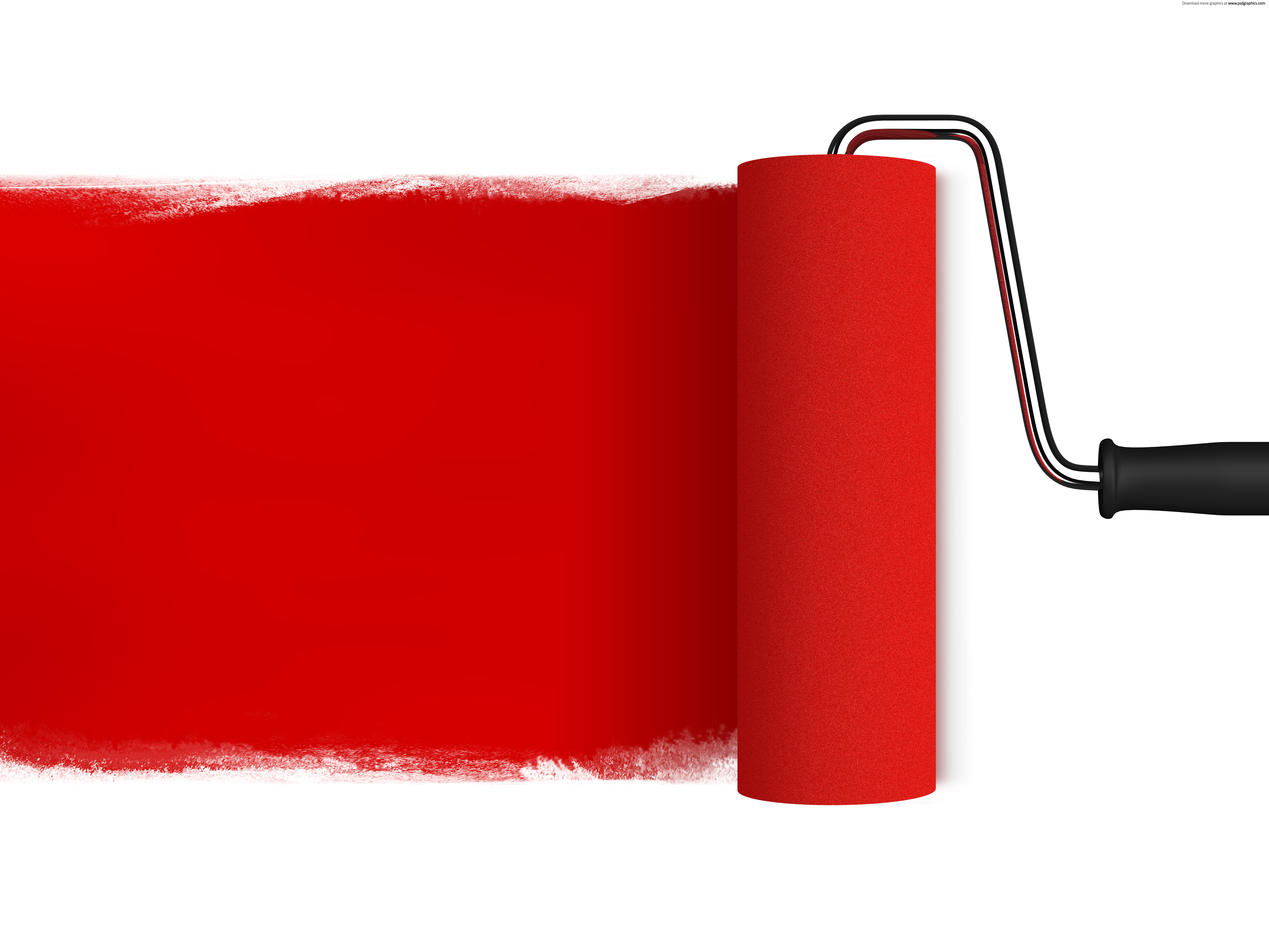 Red Paint Roller