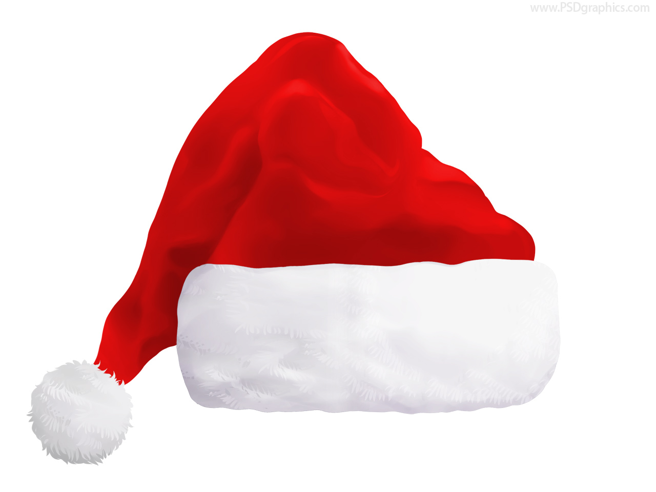 Red Santa hat (PSD) | PSDGraphics