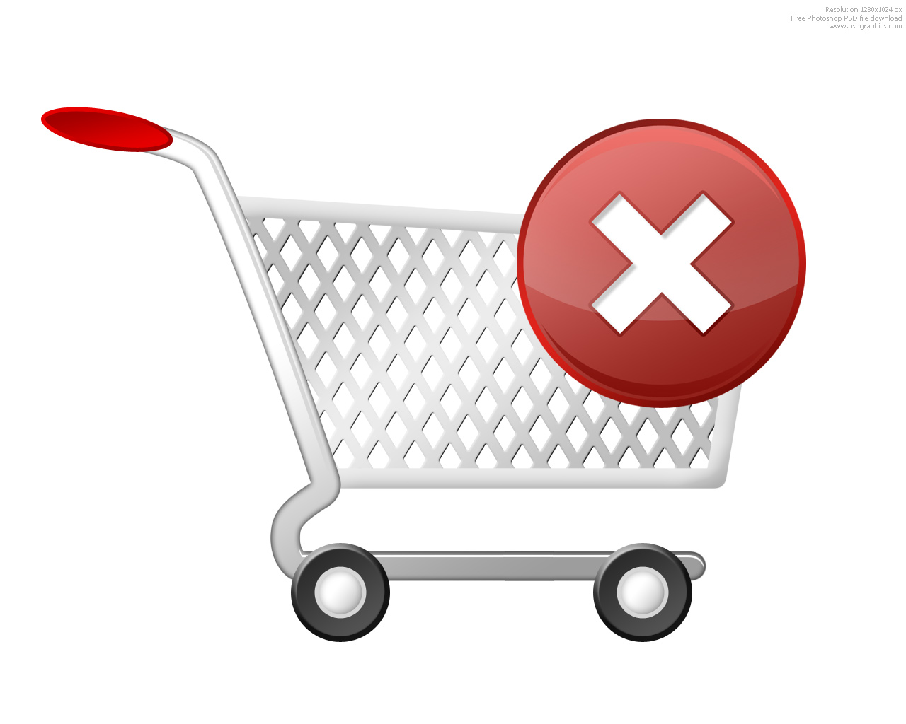 psd shopping cart icons set