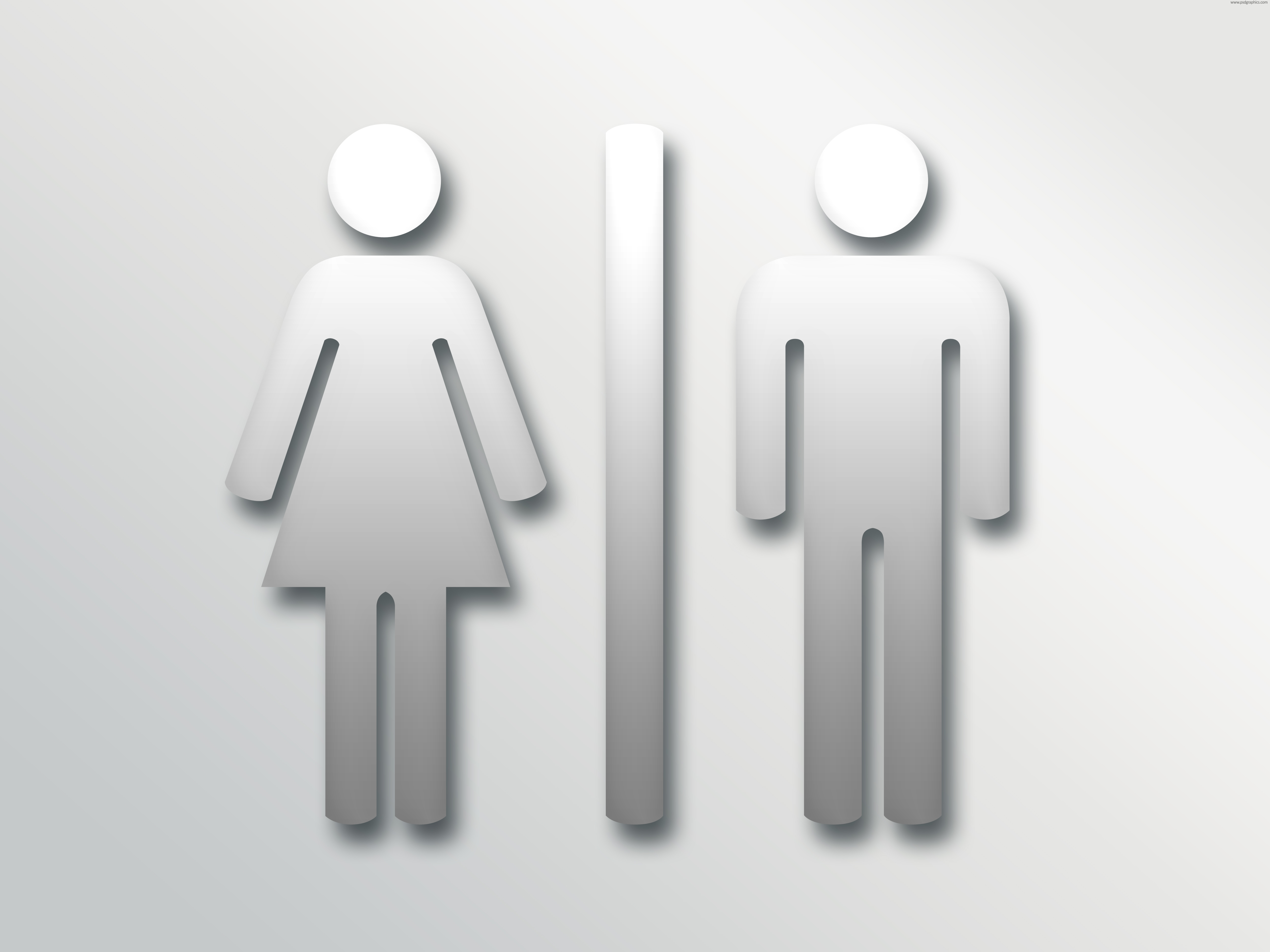 Restroom toilet sign · Male female PNG