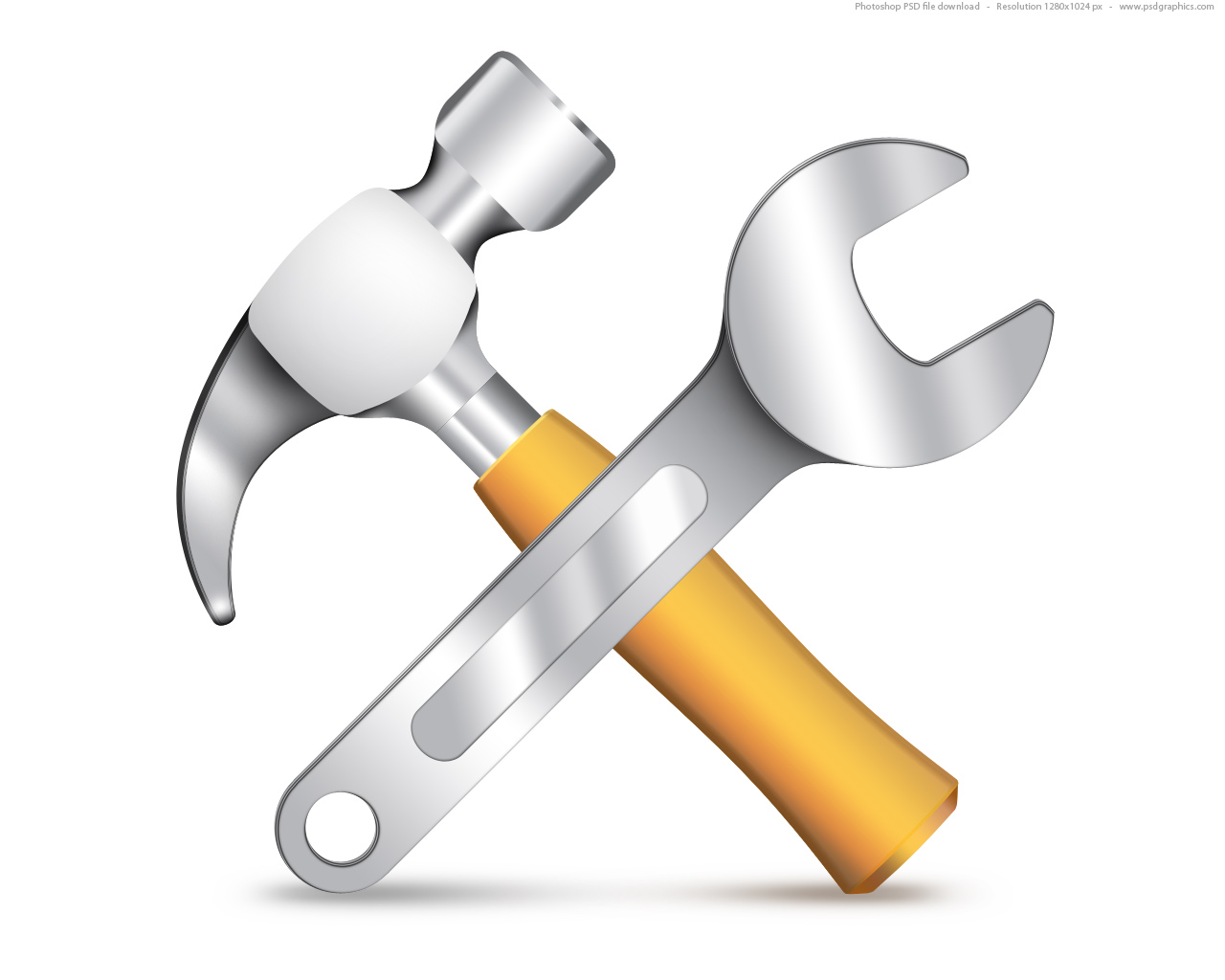 Settings icon  PSD hammer and wrenchWrench Icon