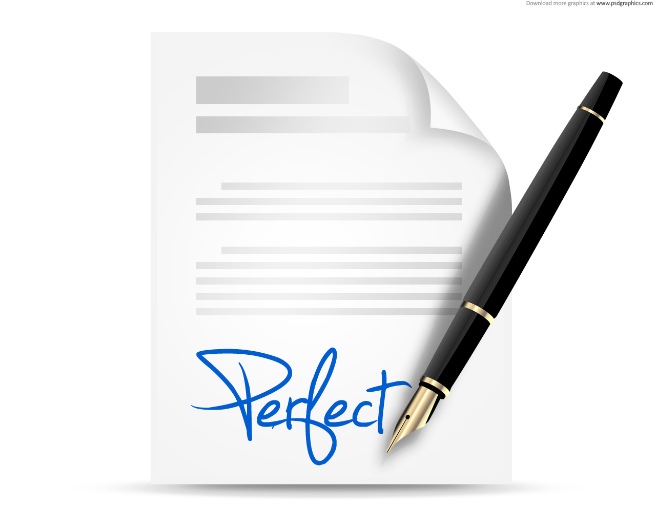 Signing contract icon (PSD) | PSDGraphics