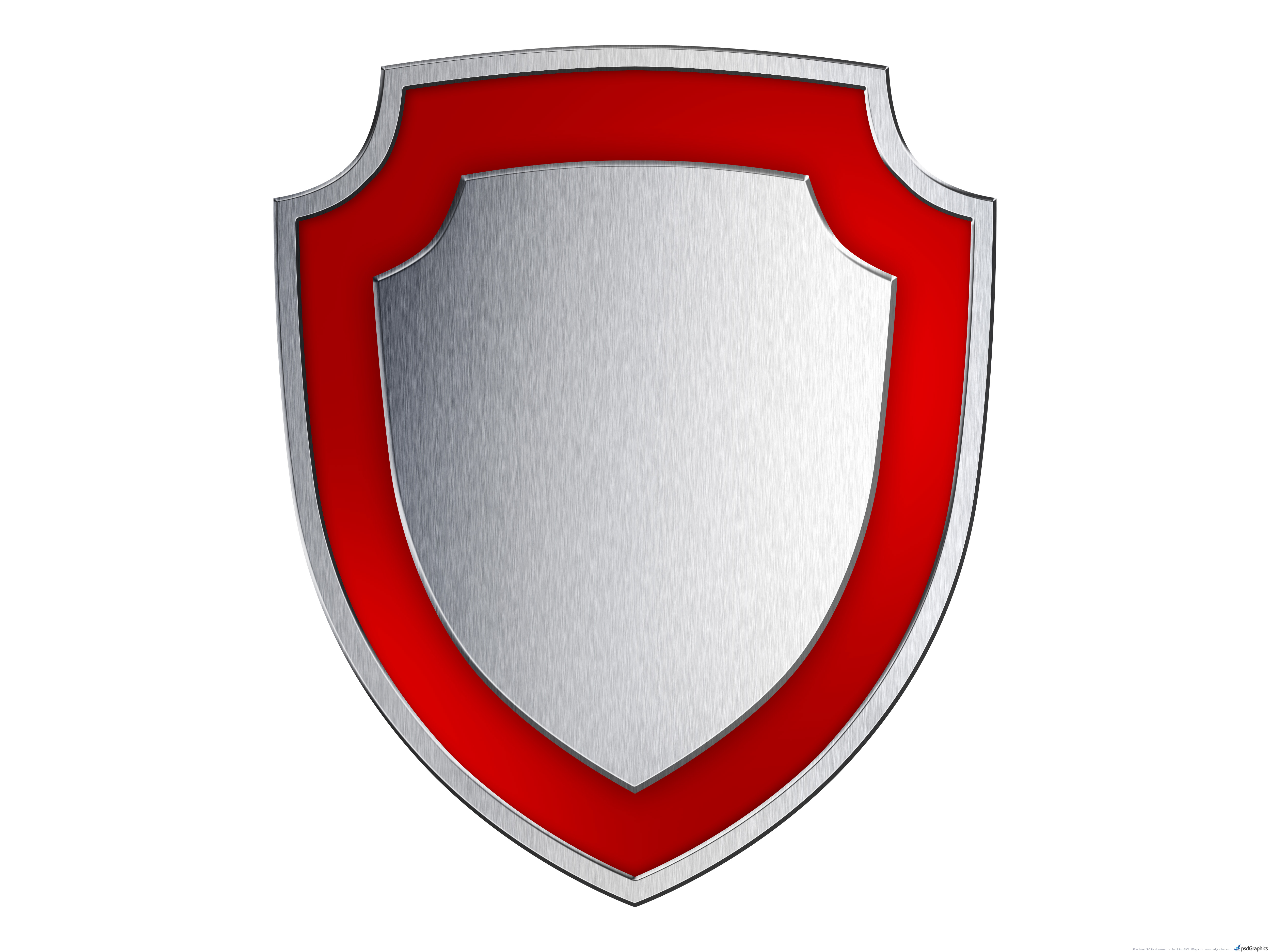 Gold and silver shields | PSDGraphics