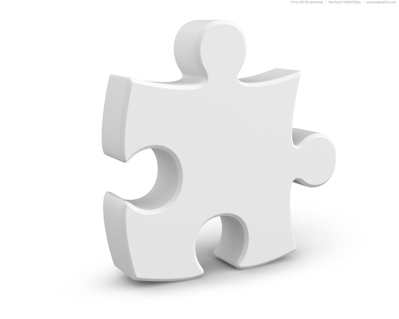 Single jigsaw puzzle piece, 3D symbol | PSDGraphics