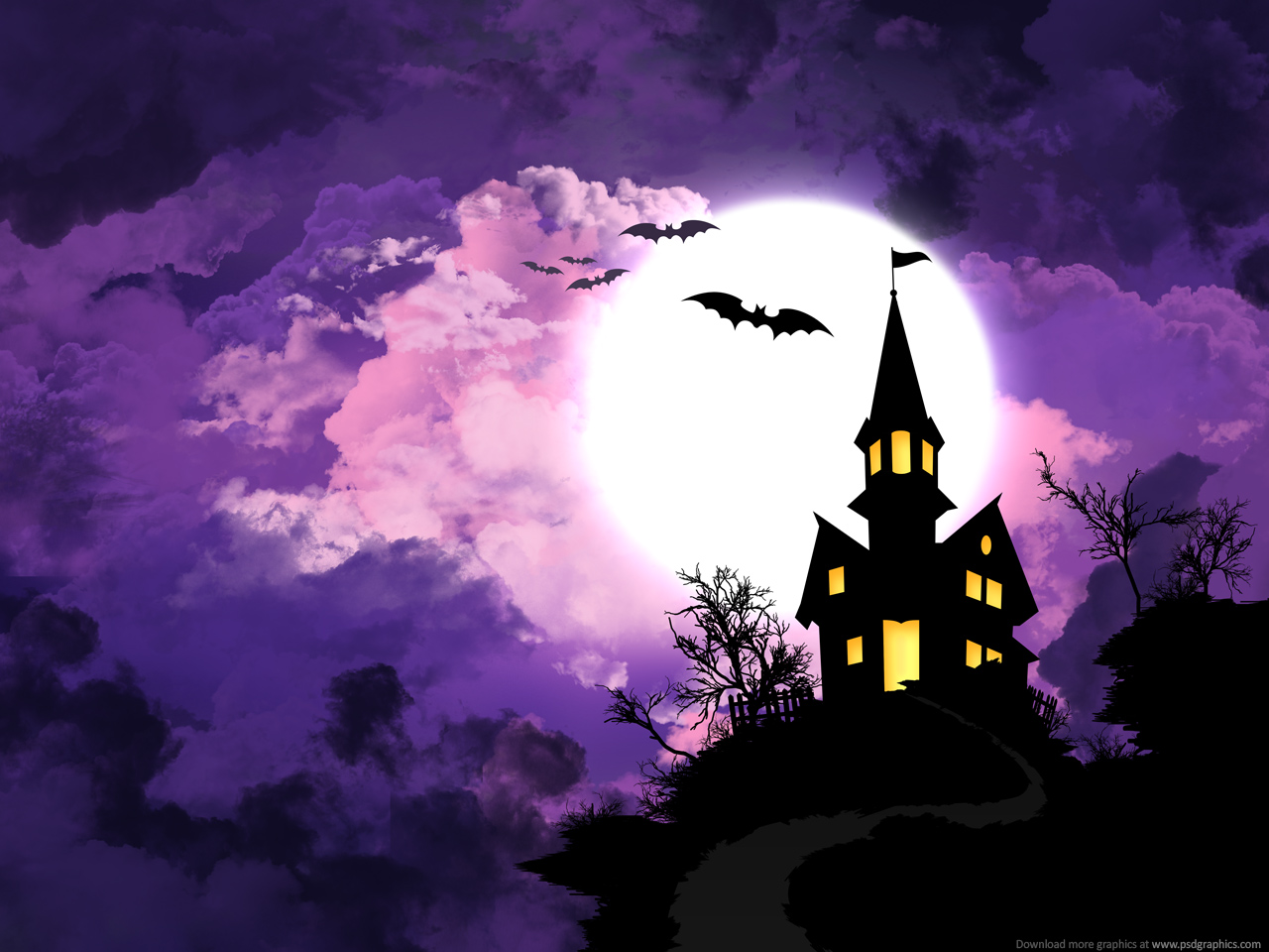 Halloween background psdgraphics for Purple wallpaper for home