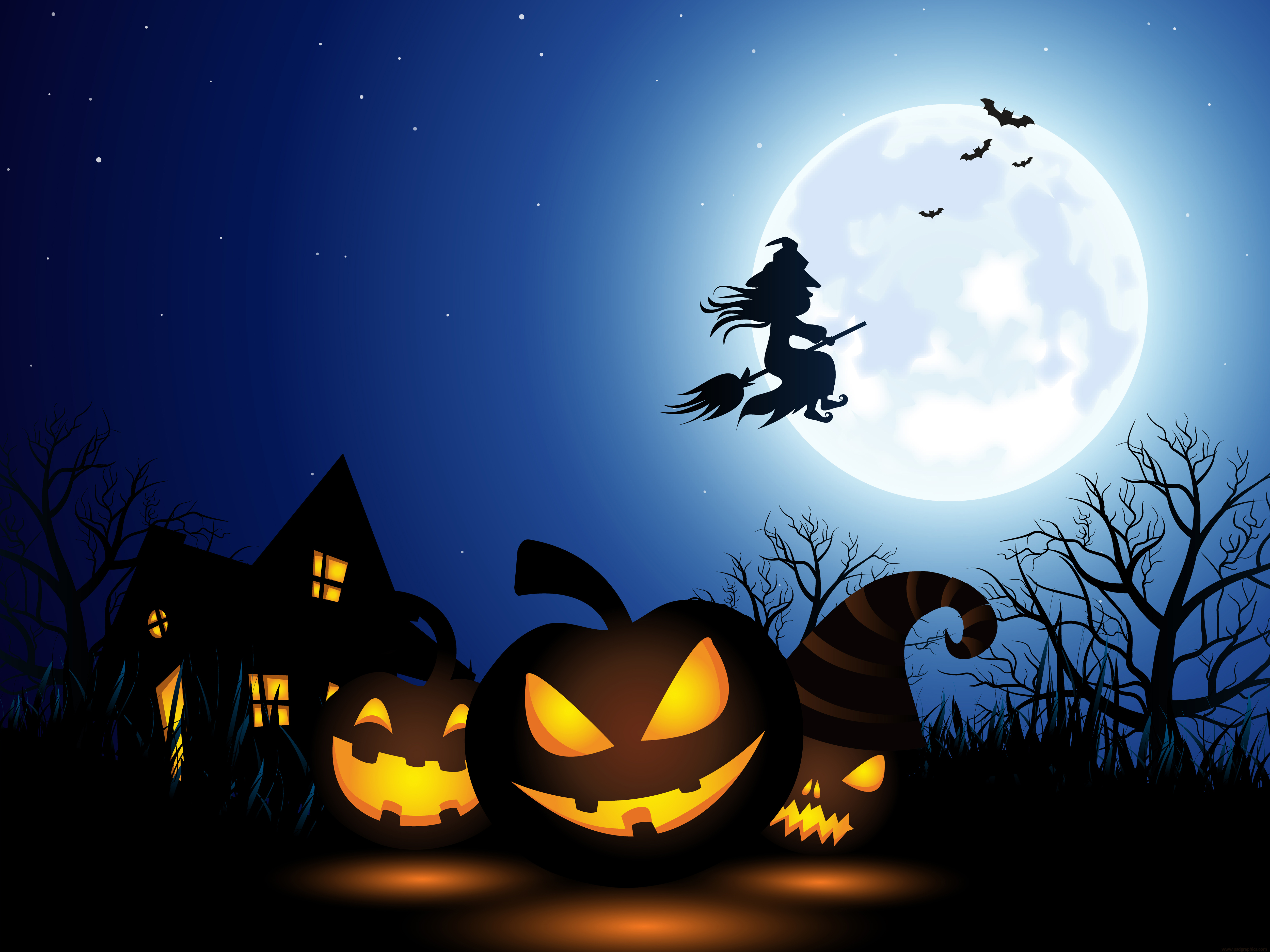 Halloween Spooky Pictures.Spooky Halloween Illustration Psdgraphics