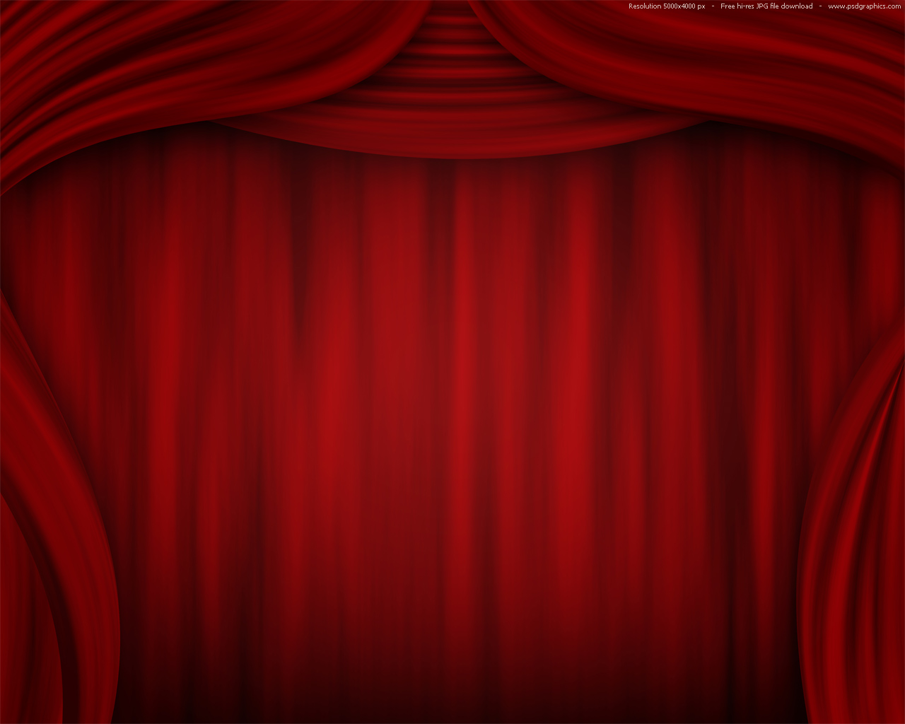 Red curtain background, theatre stage