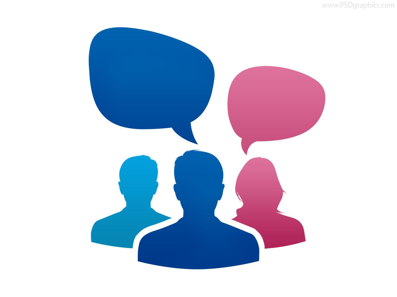 Team conversation icon (PSD) | PSDGraphics