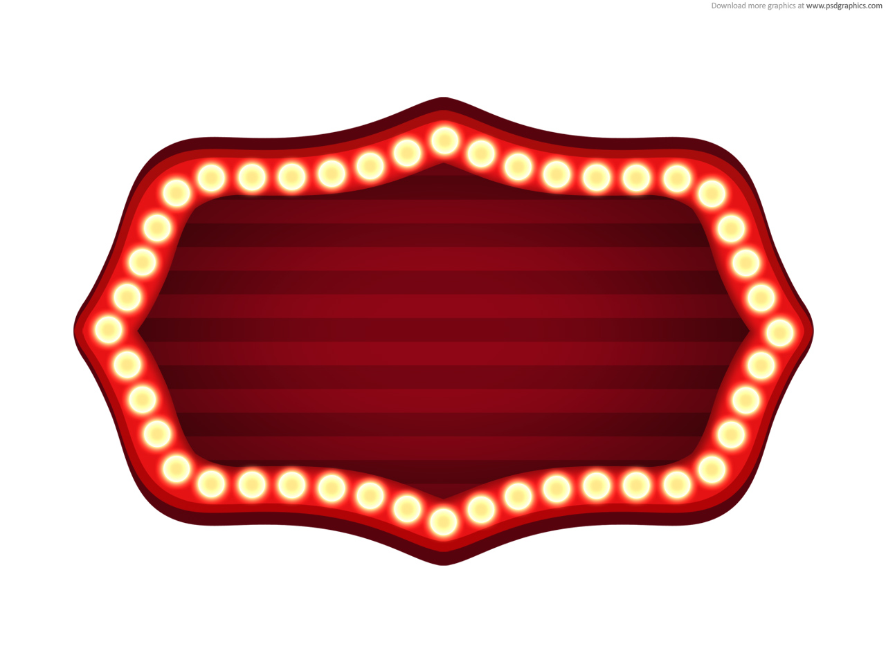 photo regarding Sign Templates referred to as Theater signal template (PSD) PSDGraphics