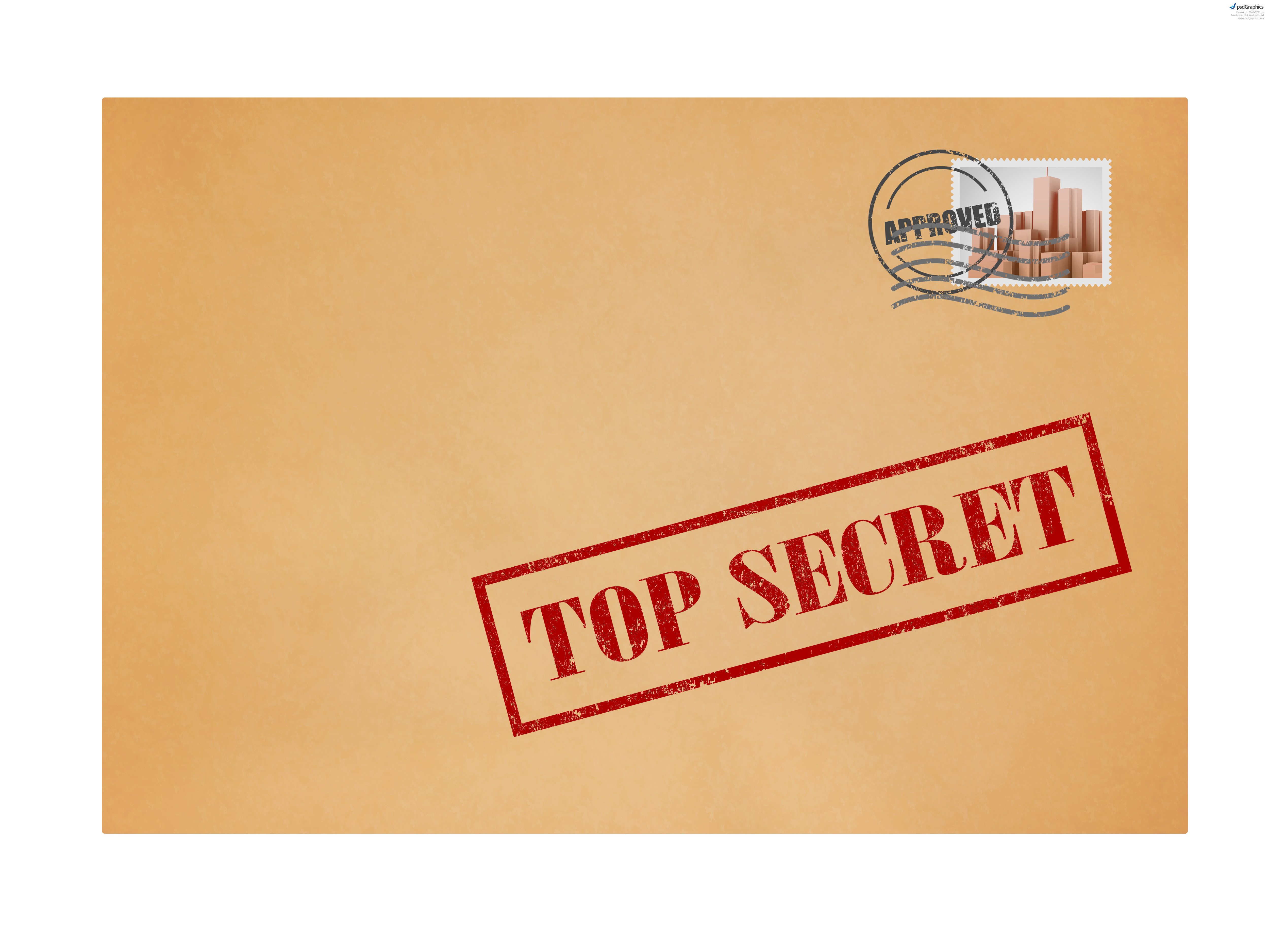 Top Secret Envelope Stamp