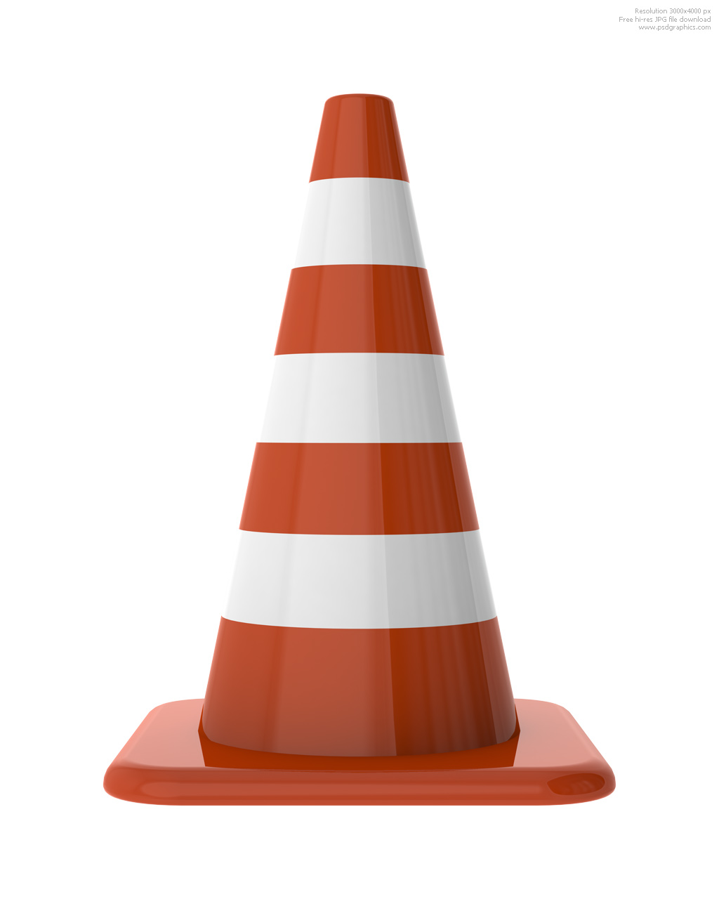 Orange traffic cones | PSDGraphics