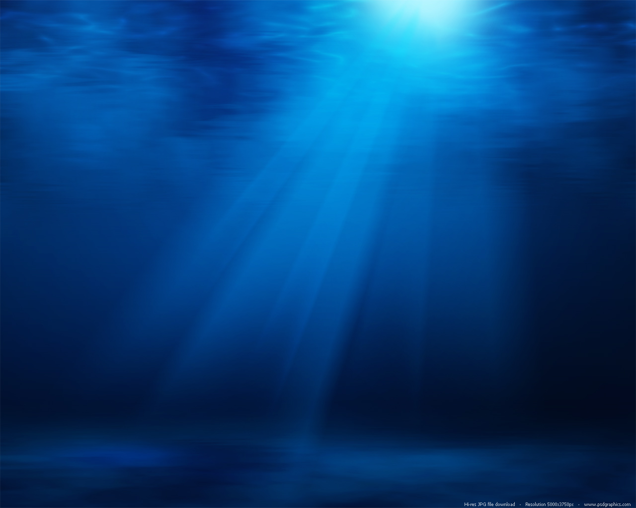 Blue underwater with sun rays background | PSDGraphics