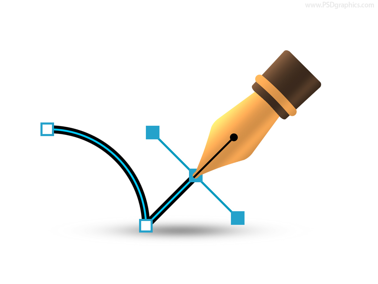 Vector pen icon (PSD) | PSDGraphics