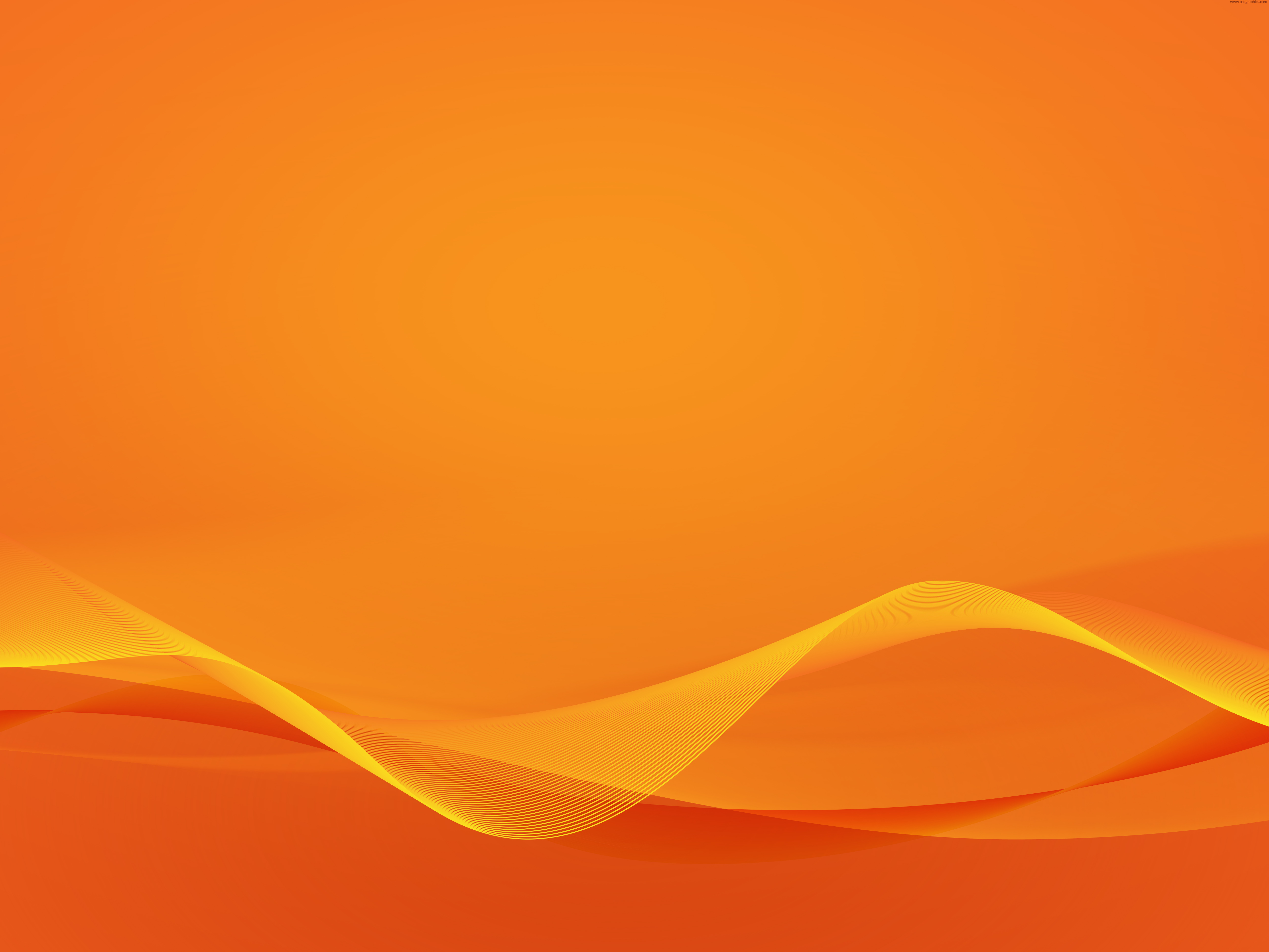 wavy orange design | psdgraphics