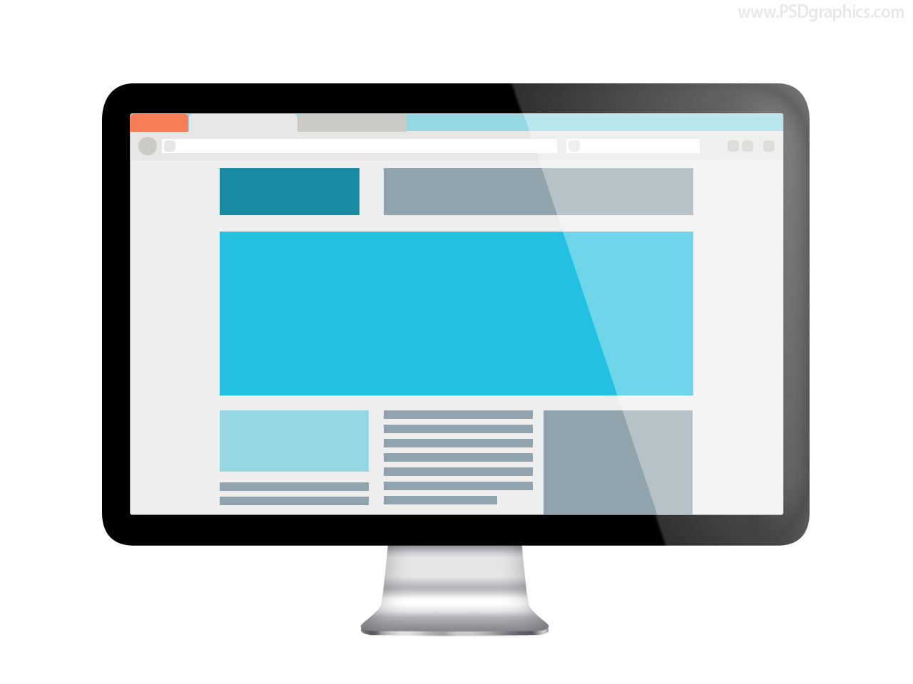 Web design preview psd