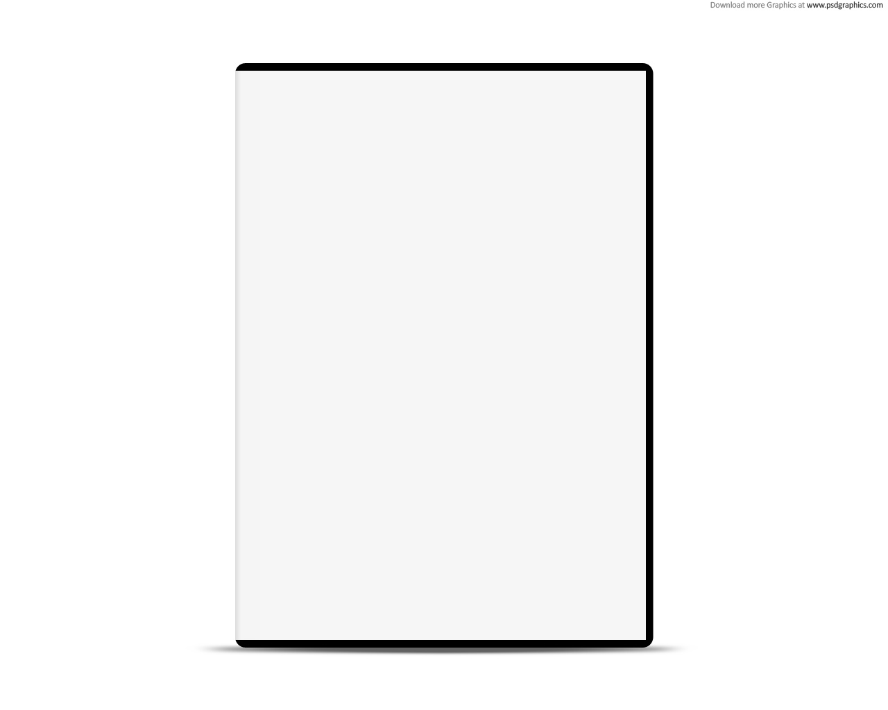 Blank white case with DVD, PSD web template | PSDGraphics