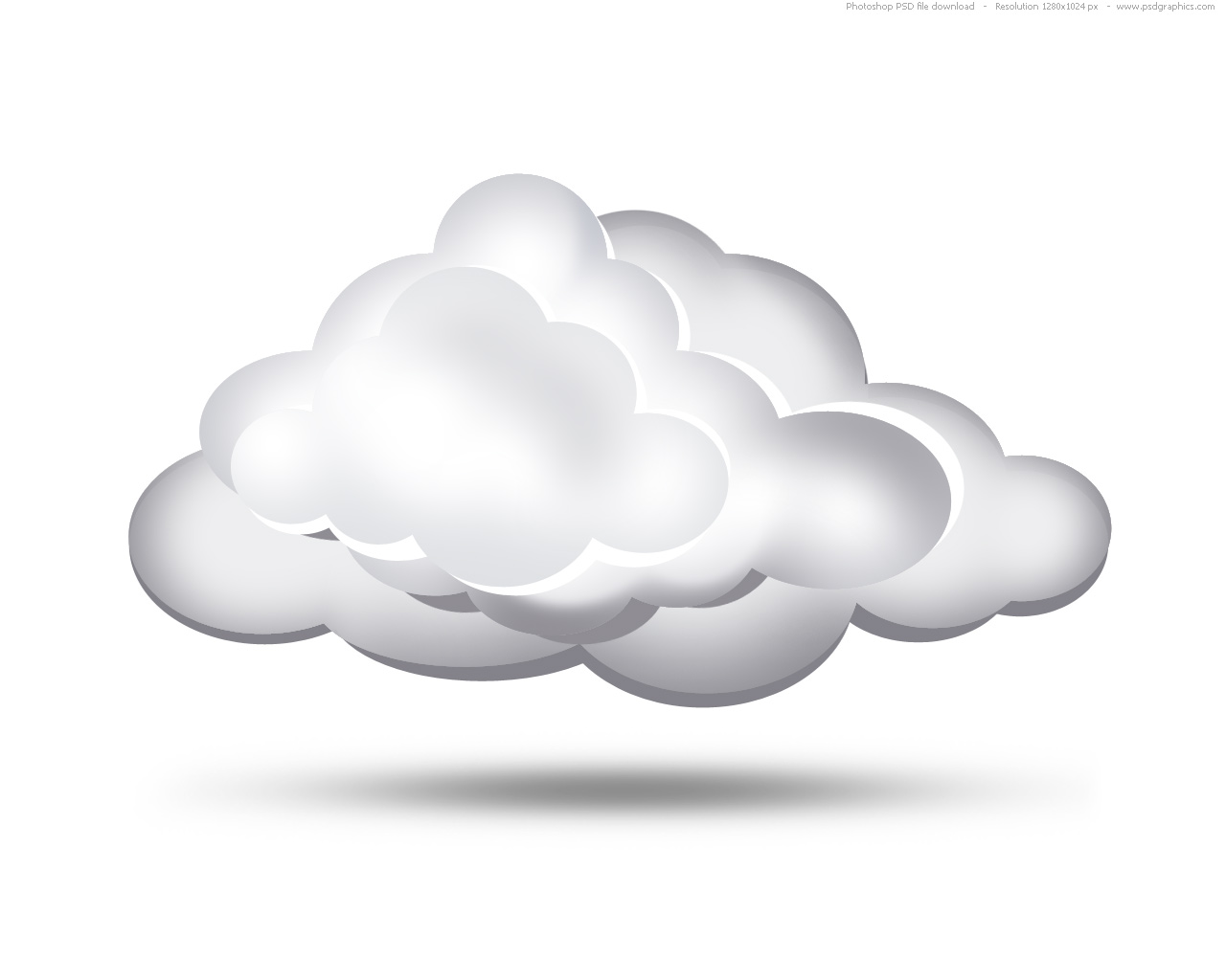 White clouds icon