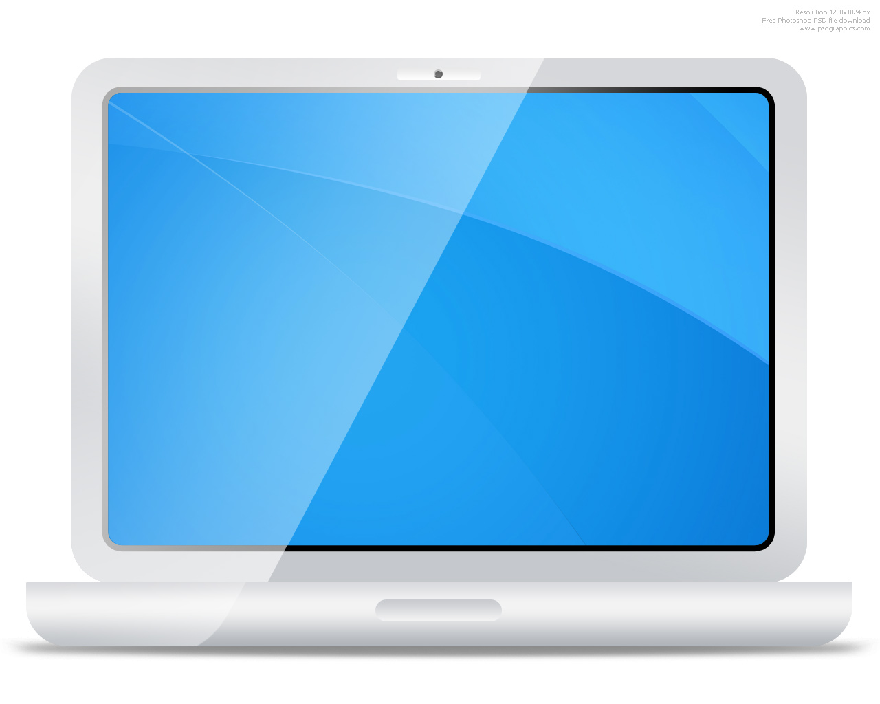 PSD white laptop icon  PSDGraphics