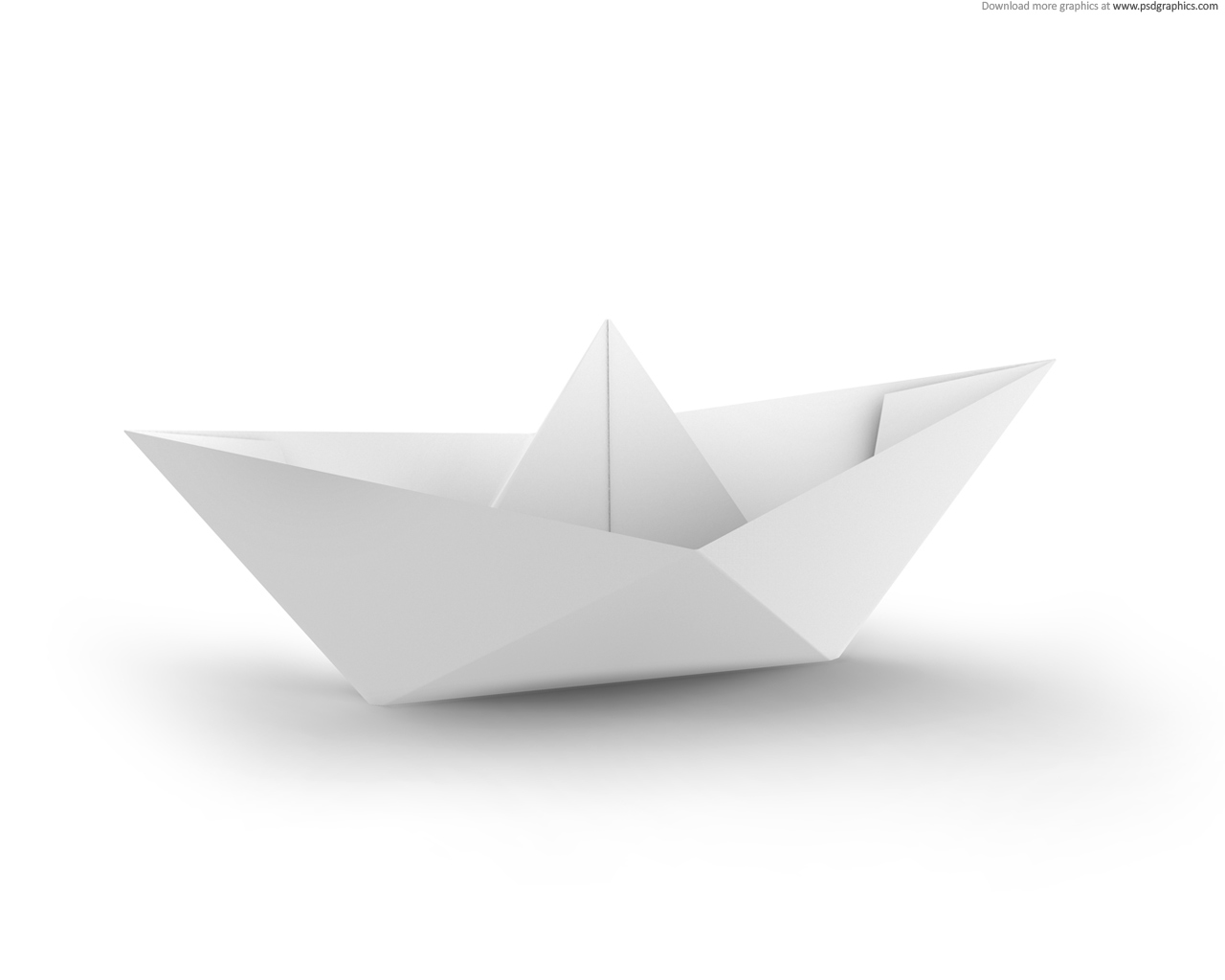 White And Blue Paper Boats Psdgraphics