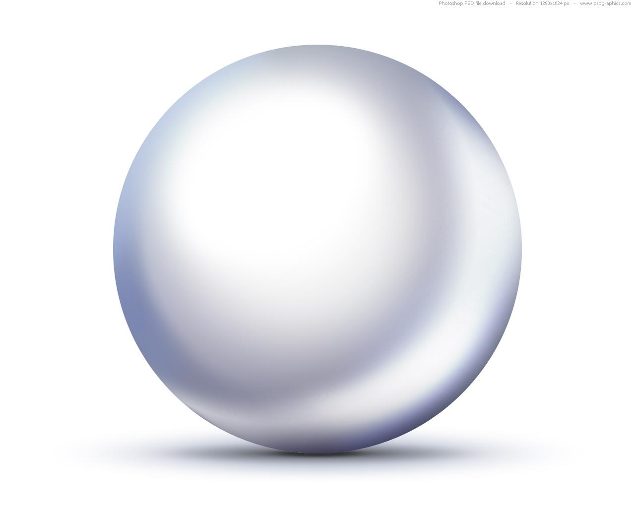 psd shiny white pearl icon psdgraphics